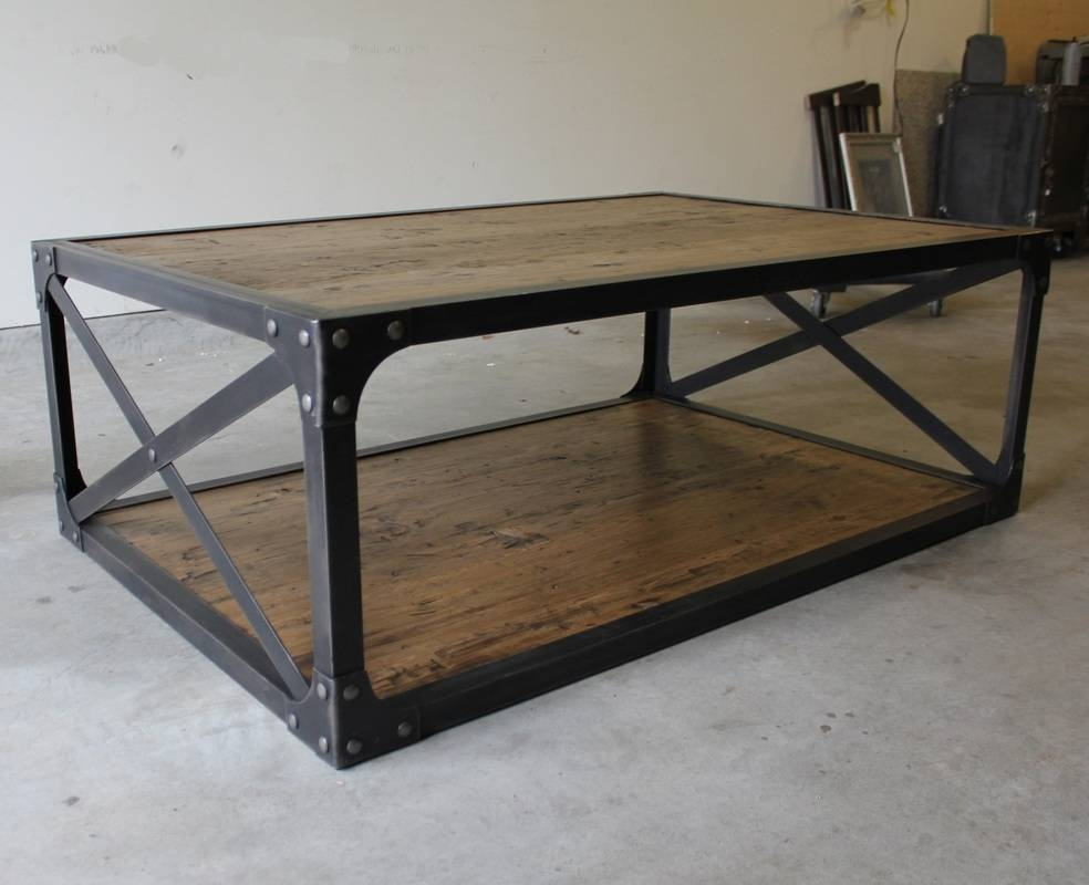 Best Industrial Style Coffee Table With Hand Crafted Industrial Pertaining To Coffee Table Industrial Style (View 3 of 30)