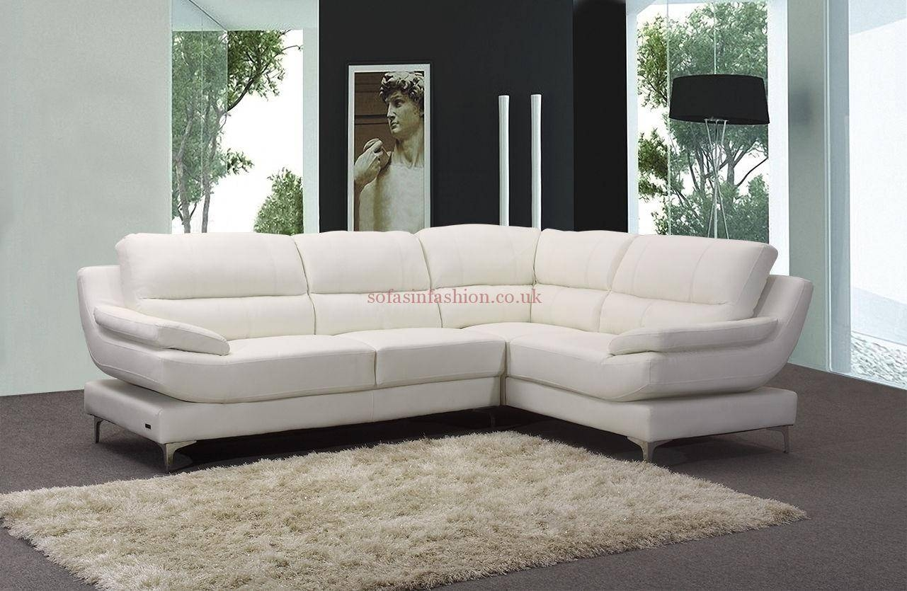 Best Leather Corner Sofas With Leather Corner Sofa Black White intended for White Leather Corner Sofa (Image 2 of 30)