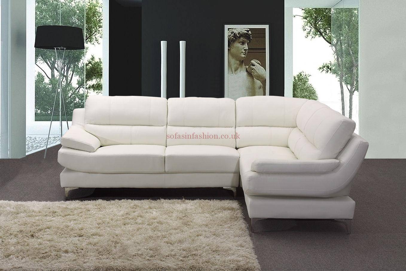 Best Leather Corner Sofas With Leather Corner Sofa Black White with regard to Large Black Leather Corner Sofas (Image 3 of 30)