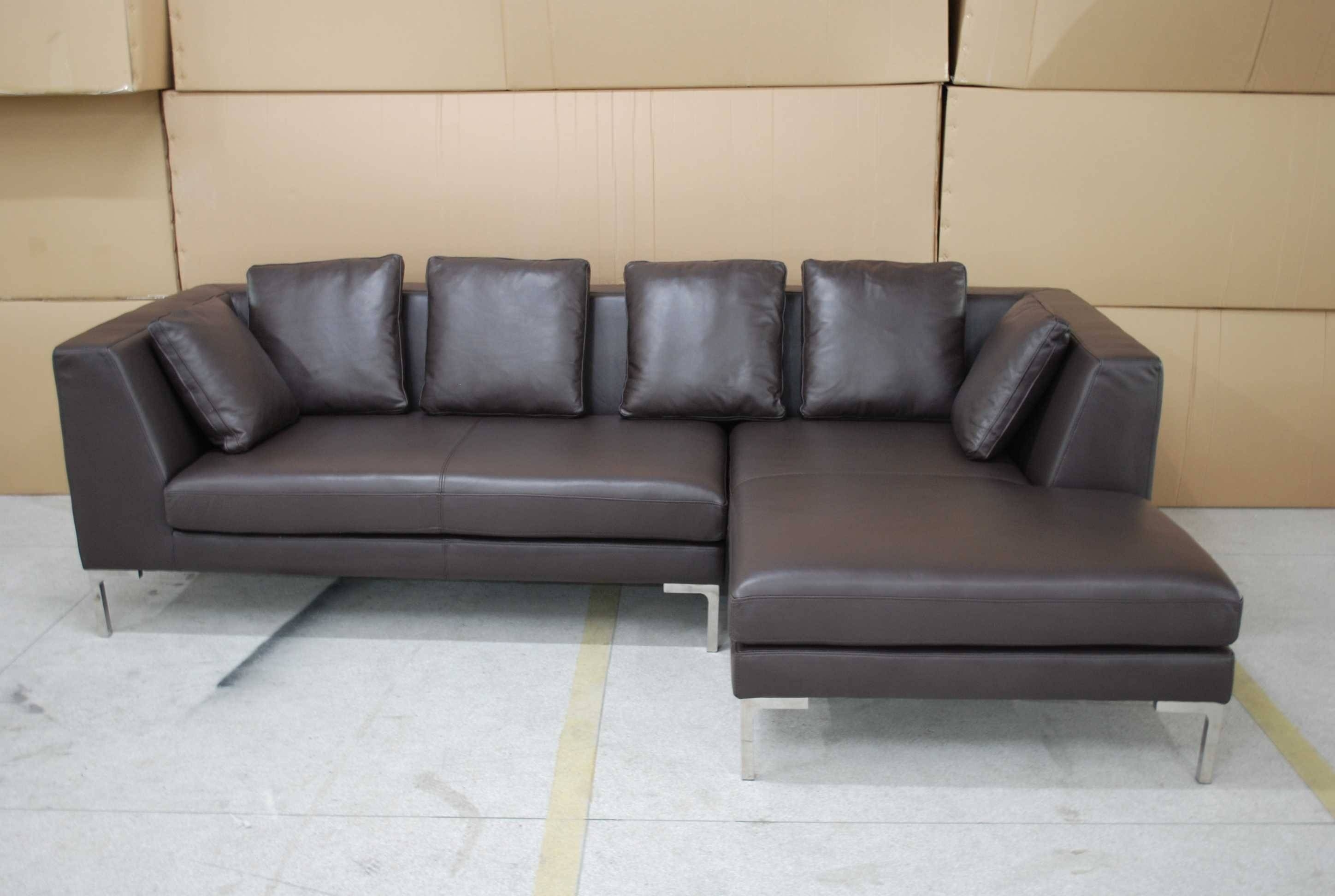 Best Leather Corner Sofas With Leather Corner Sofa Black White within Leather Corner Sofas (Image 4 of 30)