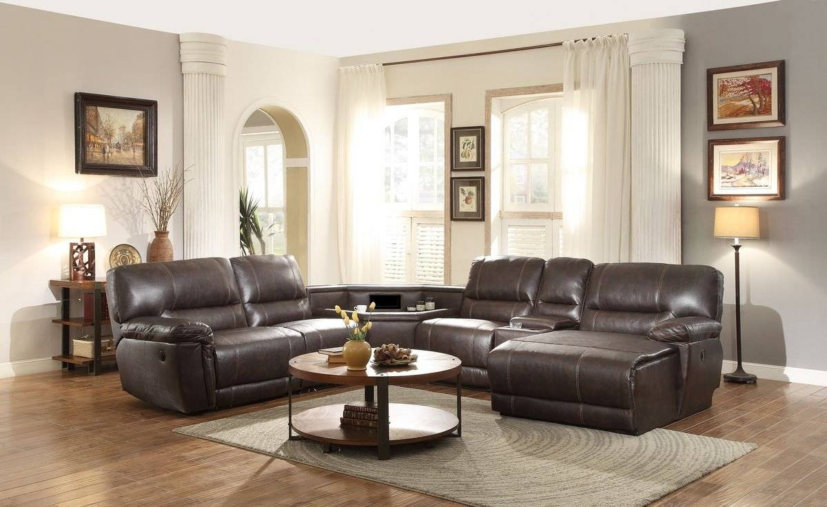 Best Leather Sectional Sofa With Power Recliner 59 On Durable in Durable Sectional Sofa (Image 7 of 30)