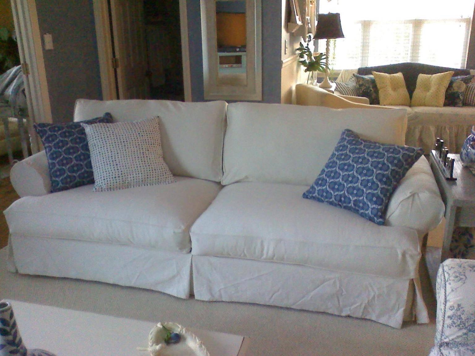 Best Slipcover Sofa inside Large Sofa Slipcovers (Image 3 of 30)