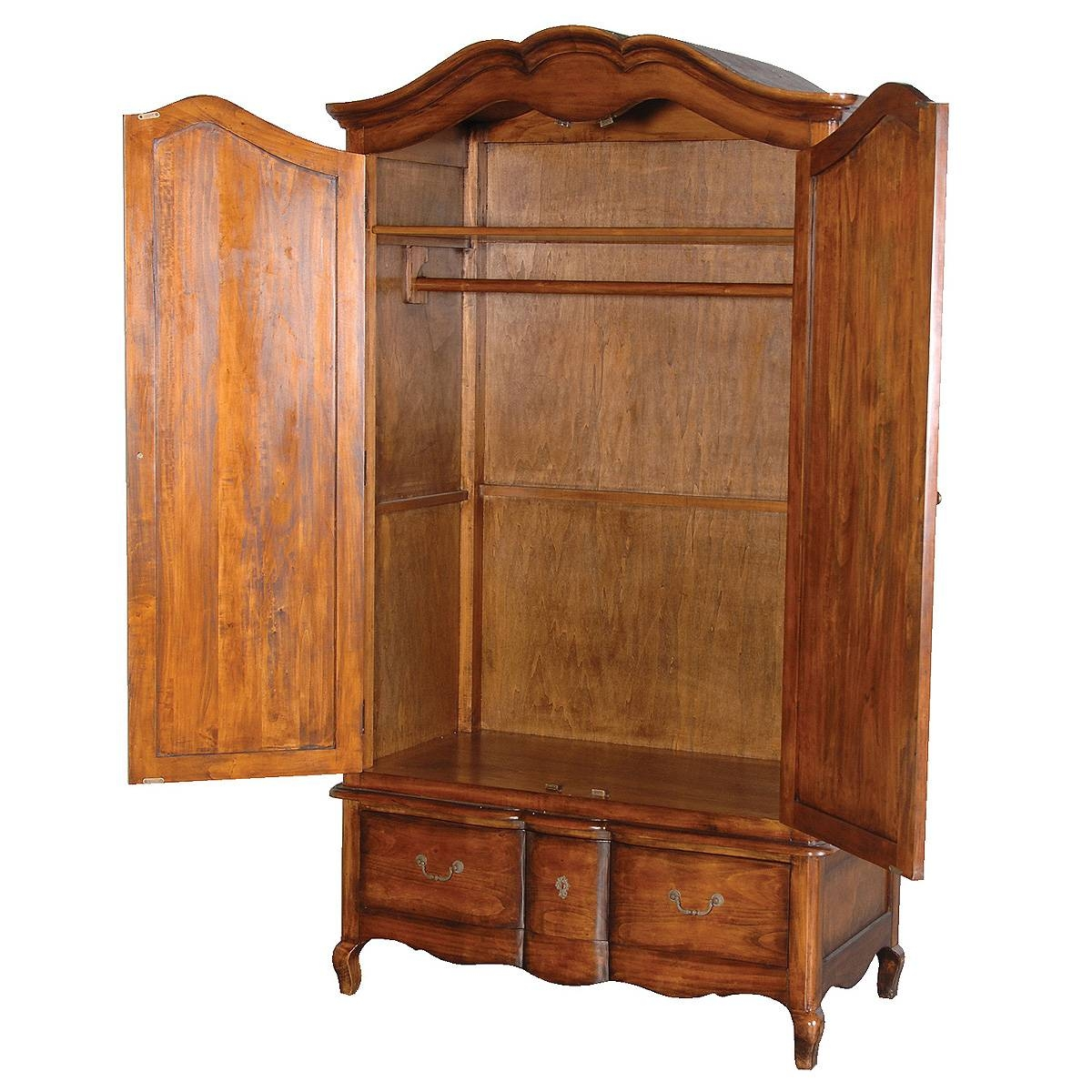Best Wardrobe Armoire | Design Ideas & Decors throughout Wicker Armoire Wardrobes (Image 3 of 15)