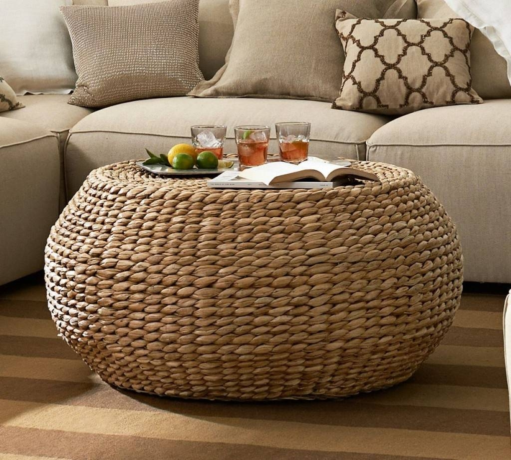 Best Wicker Coffee Table : Using Tires Wicker Coffee Table – Home within Round Woven Coffee Tables (Image 5 of 30)