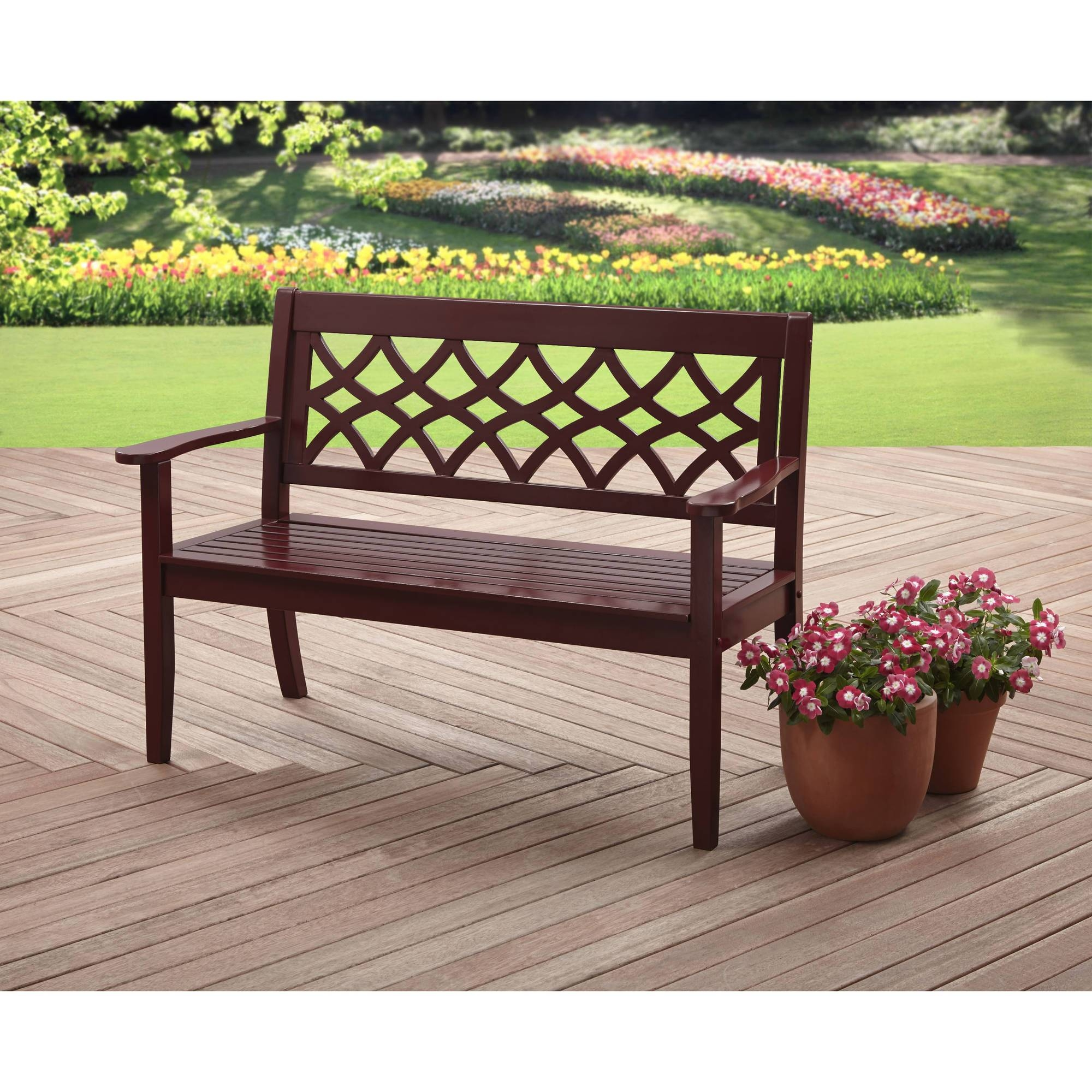 Better Homes And Gardens Azalea Ridge Outdoor Side Table, White in Wooden Garden Coffee Tables (Image 6 of 30)