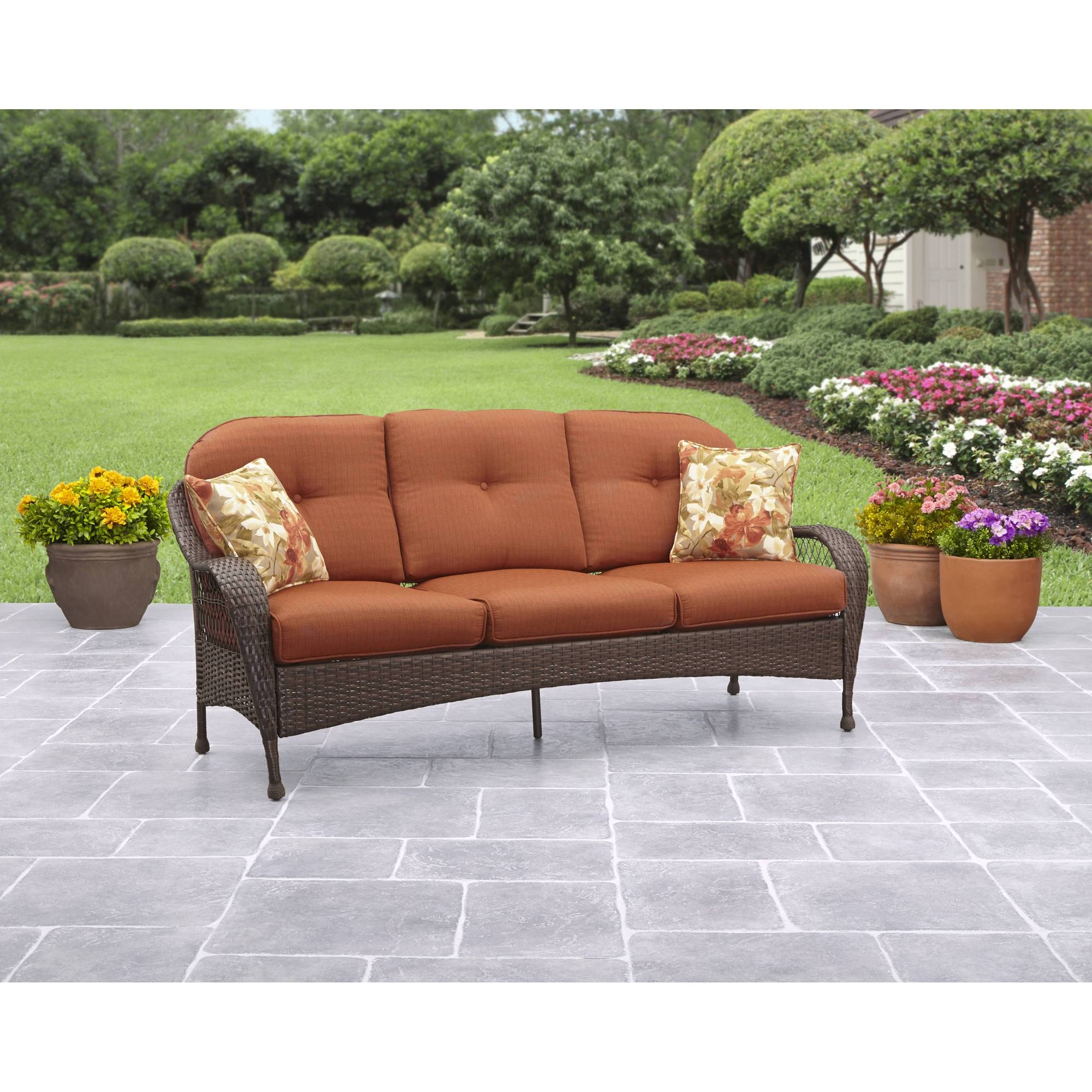 Better Homes And Gardens Azalea Ridge Outdoor Sofa, Seats 3 for Outdoor Sofa Chairs (Image 8 of 30)
