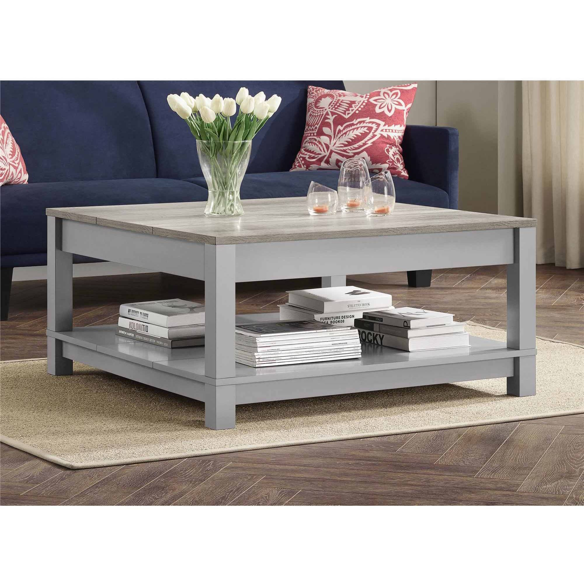 Better Homes And Gardens Langley Bay Coffee Table, Gray/sonoma Oak throughout Grey Wood Coffee Tables (Image 3 of 30)