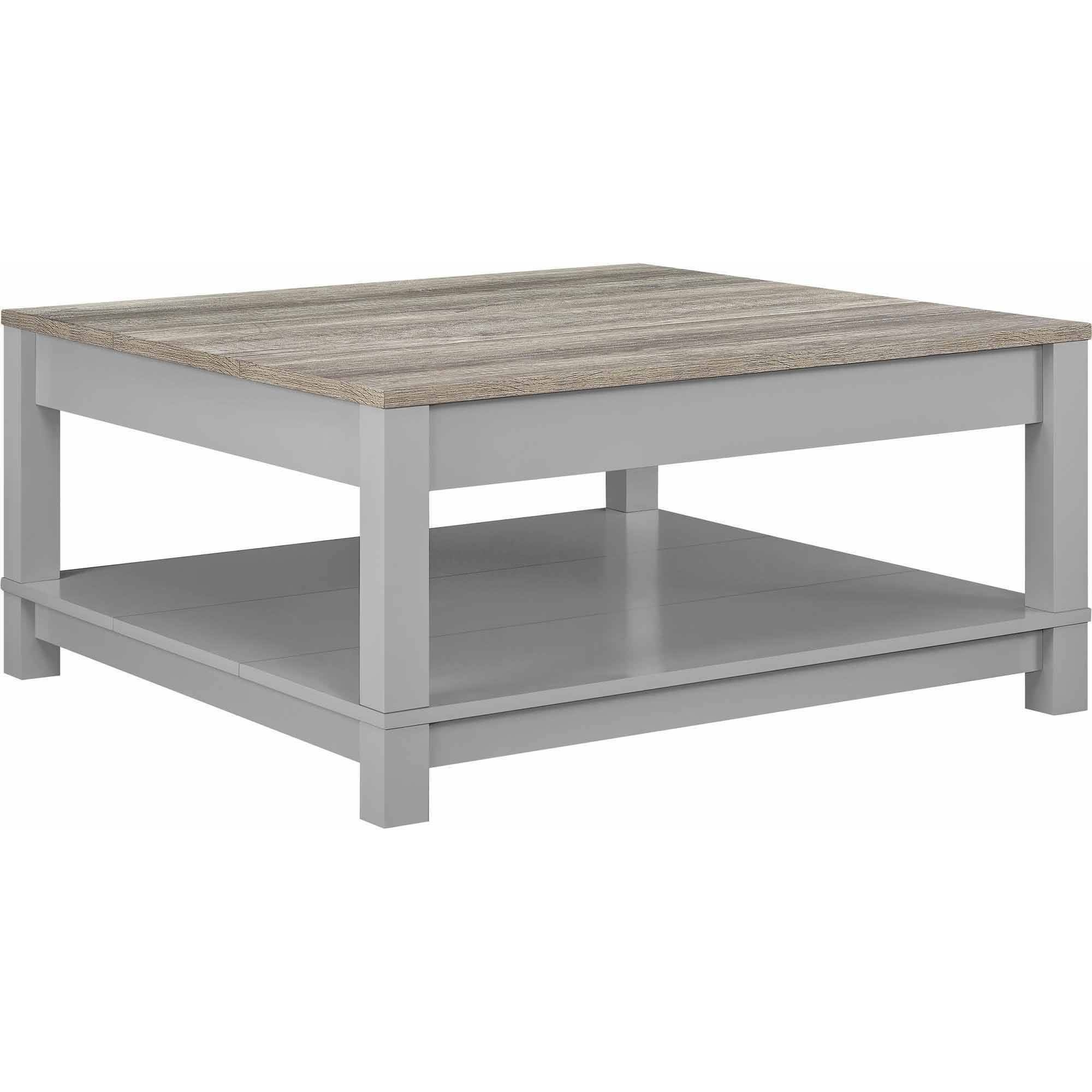 Better Homes And Gardens Langley Bay Coffee Table, Gray/sonoma Oak within Grey Coffee Tables (Image 5 of 30)