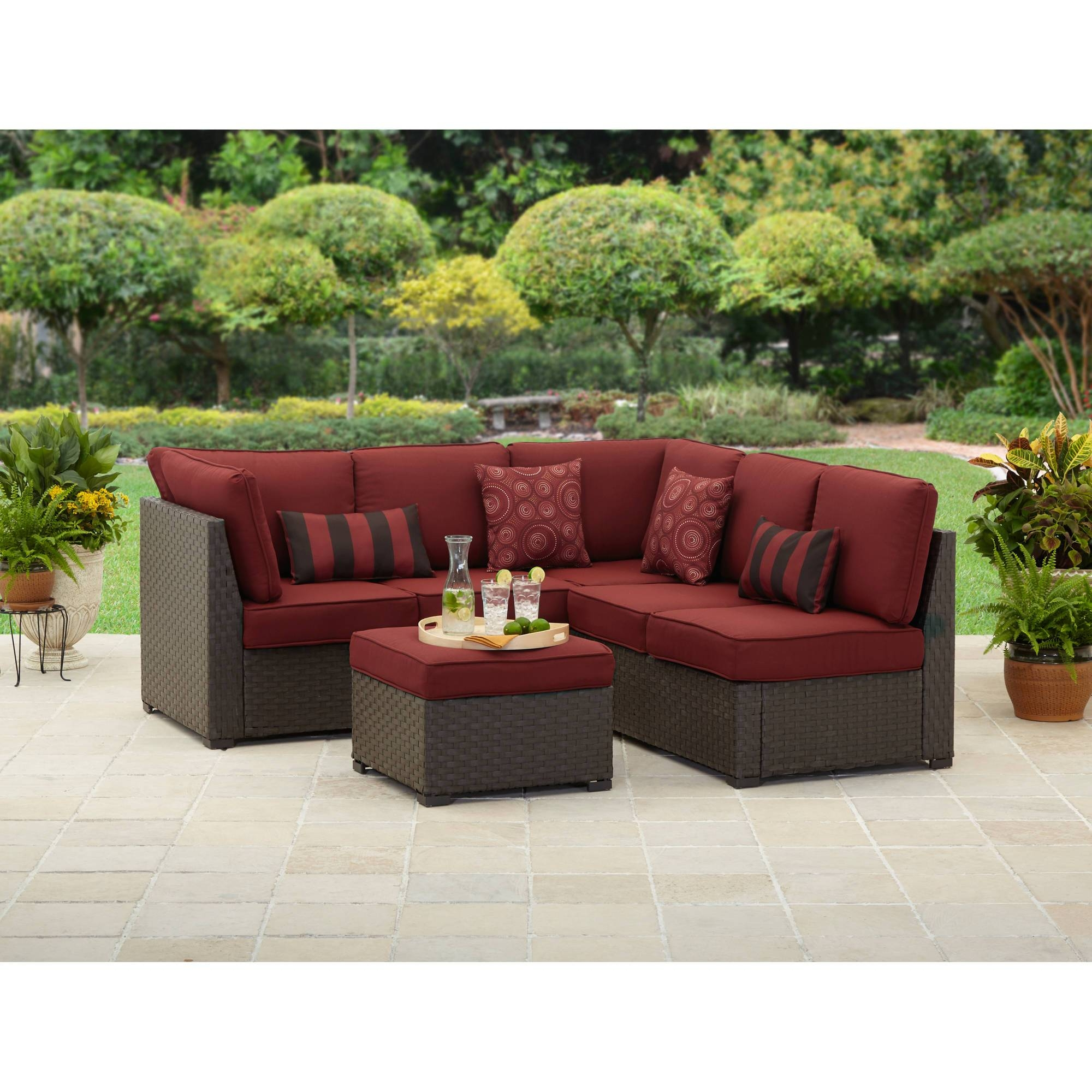 Better Homes And Gardens Rush Valley 3-Piece Outdoor Sectional for Outdoor Sofa Chairs (Image 9 of 30)