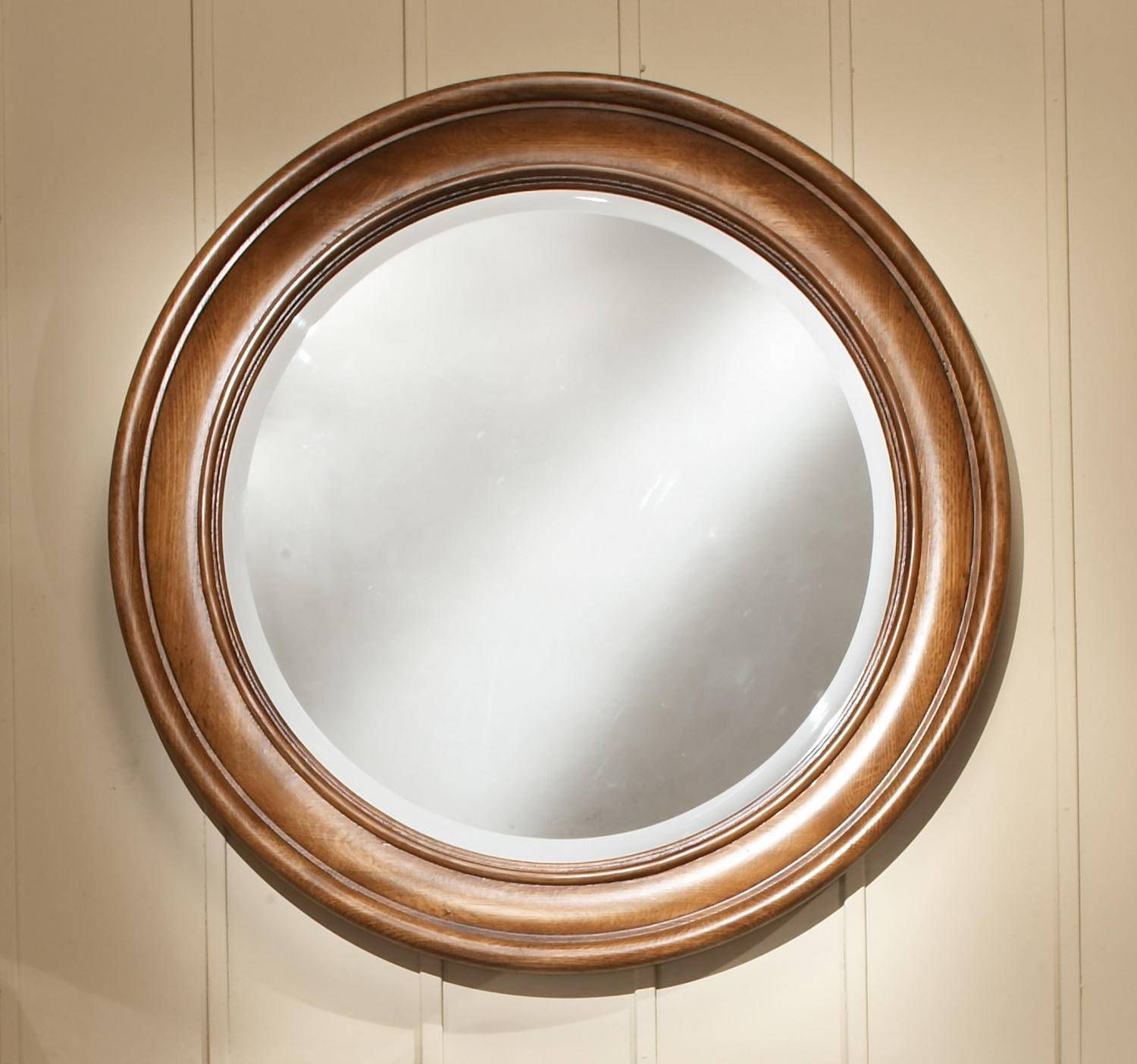 Beveled Mirror | Signature Hardware regarding Round Bevelled Mirrors (Image 4 of 25)