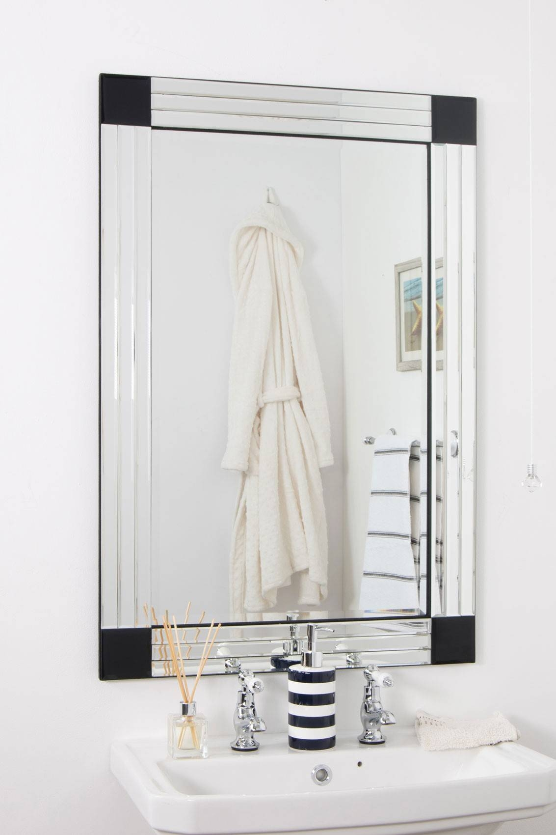 Bevelled Edge Bathroom Mirror – Harpsounds.co within Large Bevelled Mirrors (Image 5 of 25)