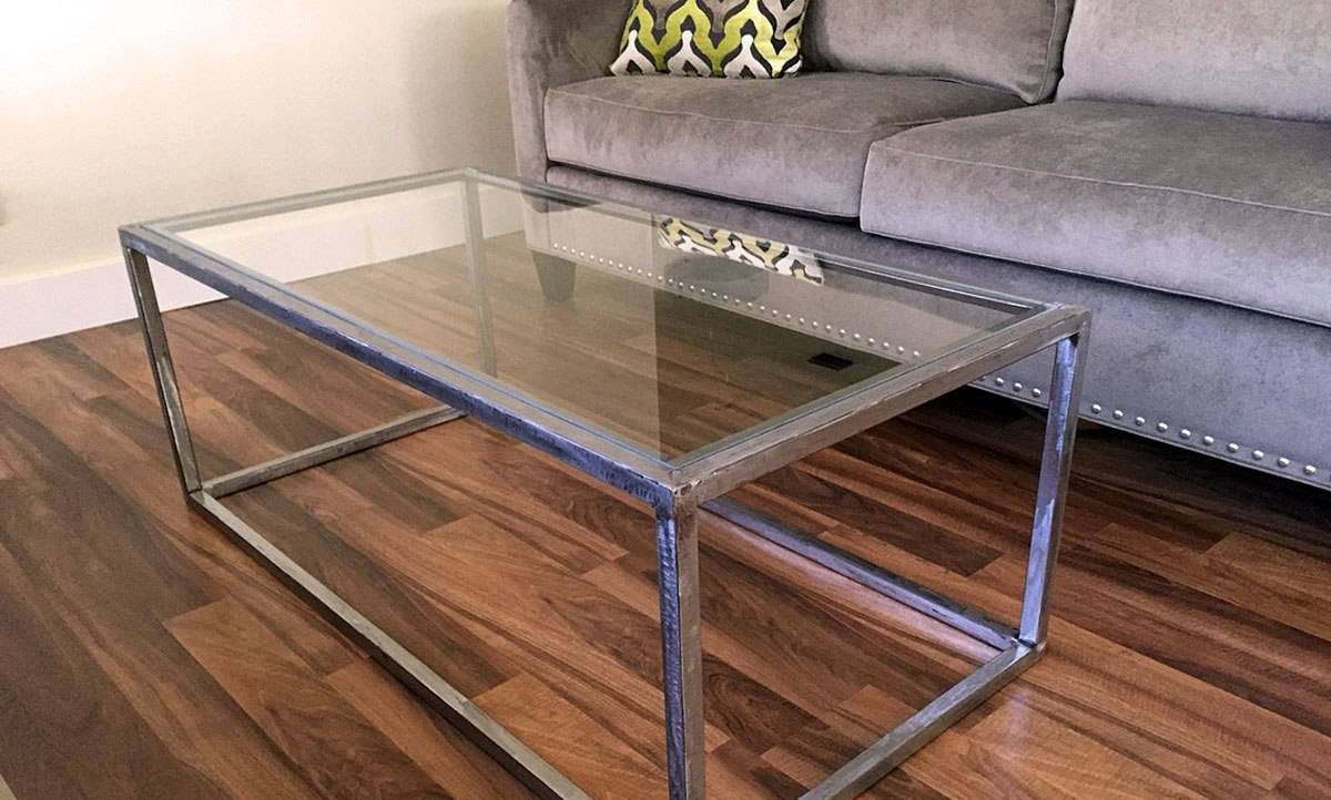 Bewildering Rectangle Brown Wood Industrial Coffee Table Wooden for White Wood And Glass Coffee Tables (Image 3 of 30)