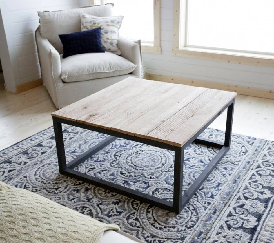 Bewildering Rectangle Brown Wood Industrial Coffee Table Wooden with Oak And Cream Coffee Tables (Image 6 of 30)
