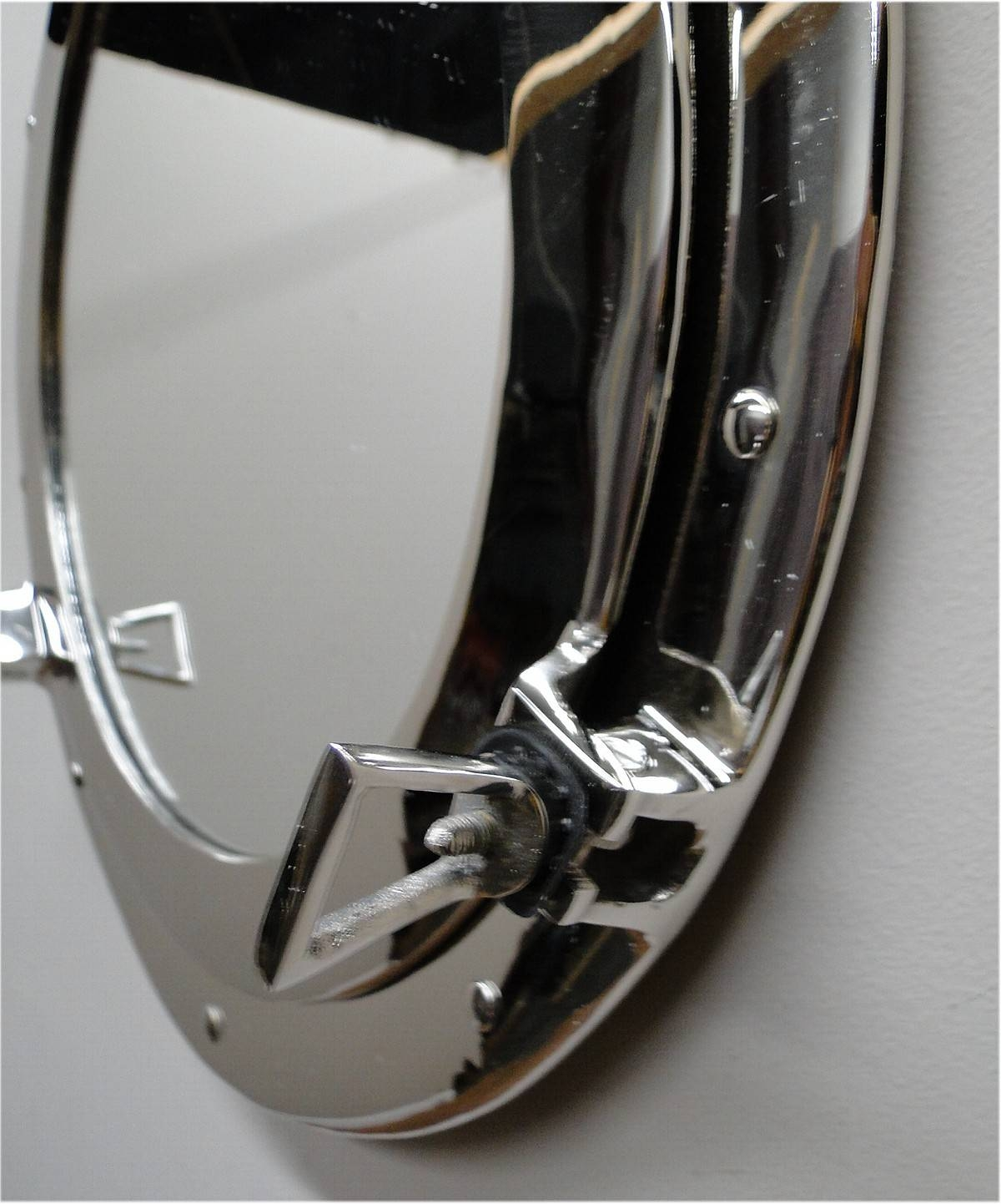 """Big 17"""" Silver Porthole Mirror Over Solid Bass - High Quality with Chrome Porthole Mirrors (Image 5 of 25)"""