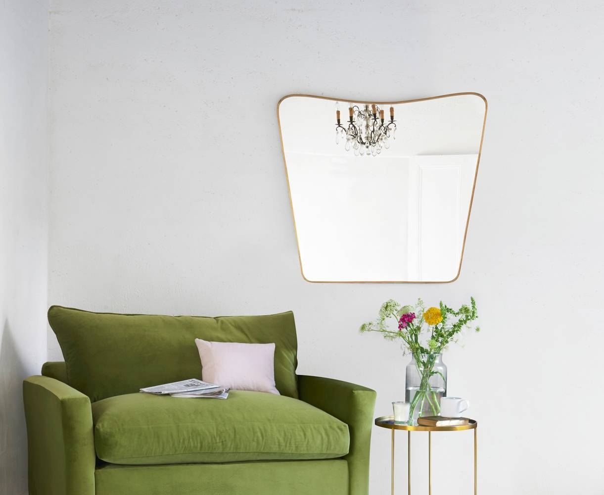 Big Brass Mirror | Retro Wall Mirror | Loaf | Loaf with regard to Retro Wall Mirrors (Image 12 of 25)