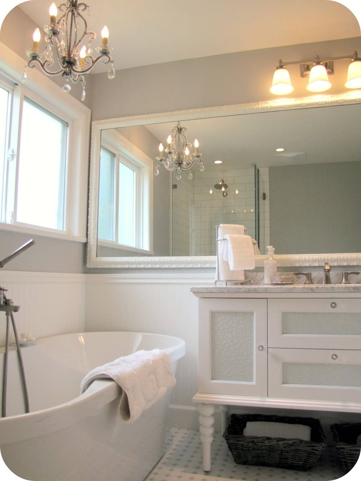 Big Mirrors For Bathrooms - Home Design Ideas And Pictures regarding Big White Mirrors (Image 9 of 25)