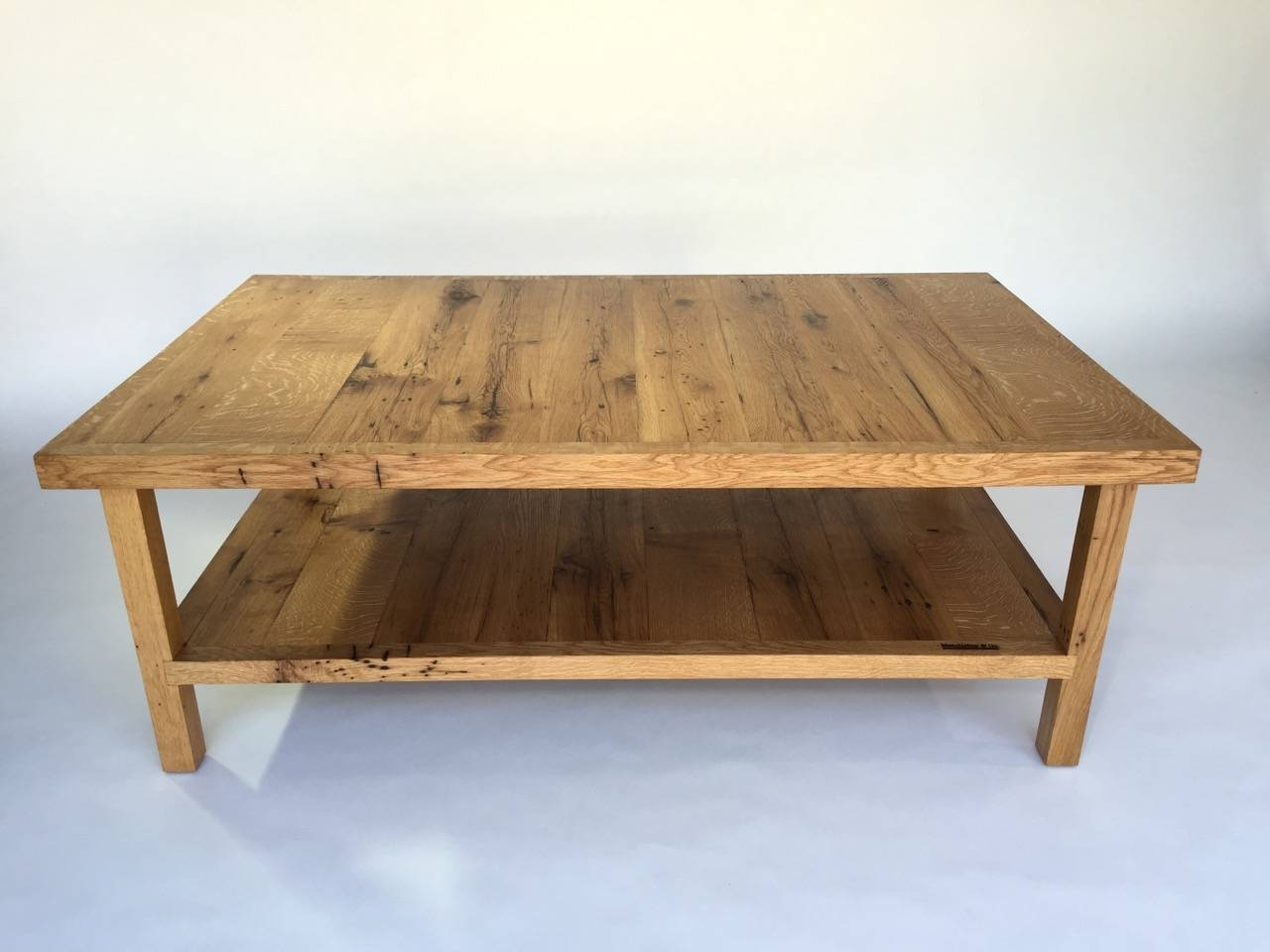 Big Sur White Oak Coffee Table – Mecox Gardens With White And Oak Coffee Tables (View 5 of 30)