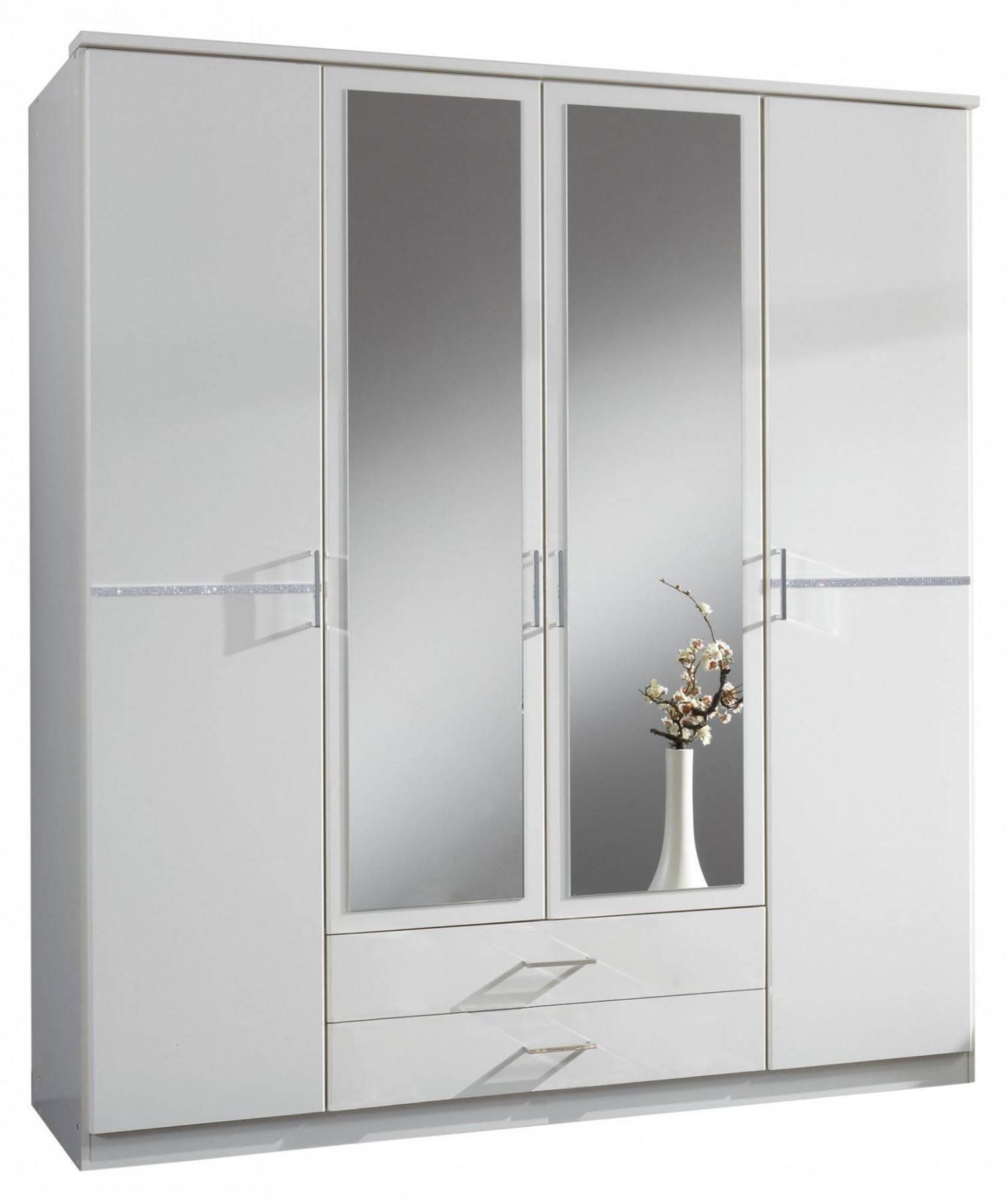 Bijoux German 4 Door Wardrobe White Crystal Rhinestone Bling within 4 Door Wardrobes With Mirror and Drawers (Image 4 of 15)