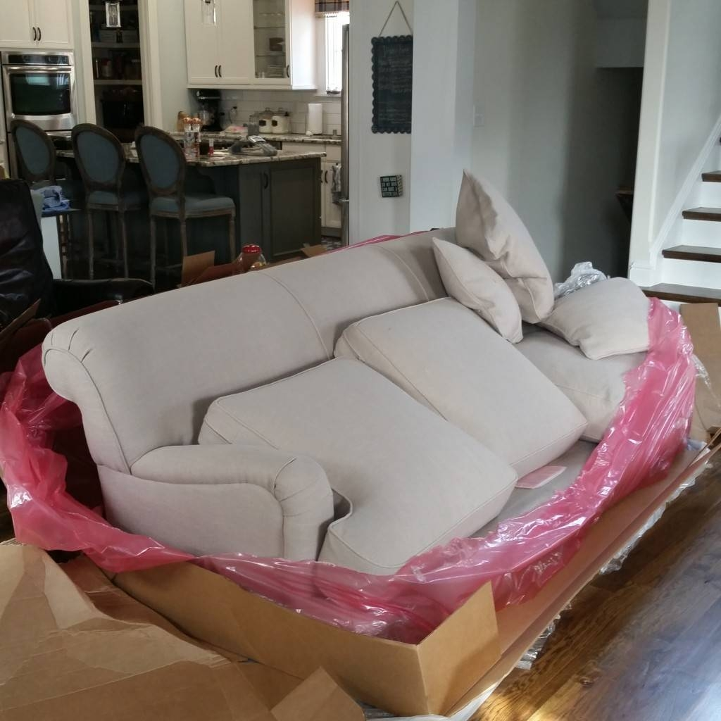 Birch Lane Durham Sofas: They Arrived! - Cleverly Inspired regarding Lane Furniture Sofas (Image 2 of 25)
