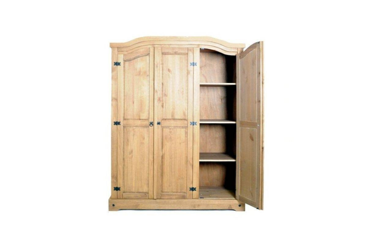 Birlea Furniture Corona | Corona Pine 3 Door Wardrobe inside Corona Wardrobes With 3 Doors (Image 2 of 15)