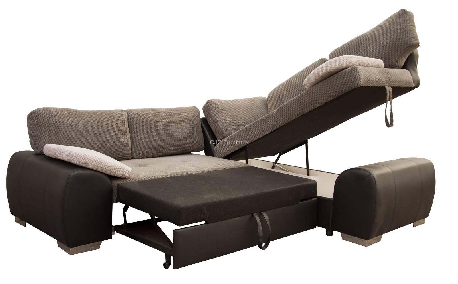 Birmingham Furniture - Cjcfurniture.co.uk Corner Sofa Beds regarding Fabric Corner Sofa Bed (Image 4 of 30)