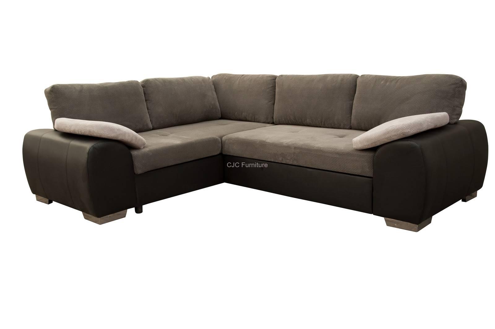 Birmingham Furniture - Cjcfurniture.co.uk Corner Sofa Beds throughout Fabric Corner Sofa Bed (Image 5 of 30)