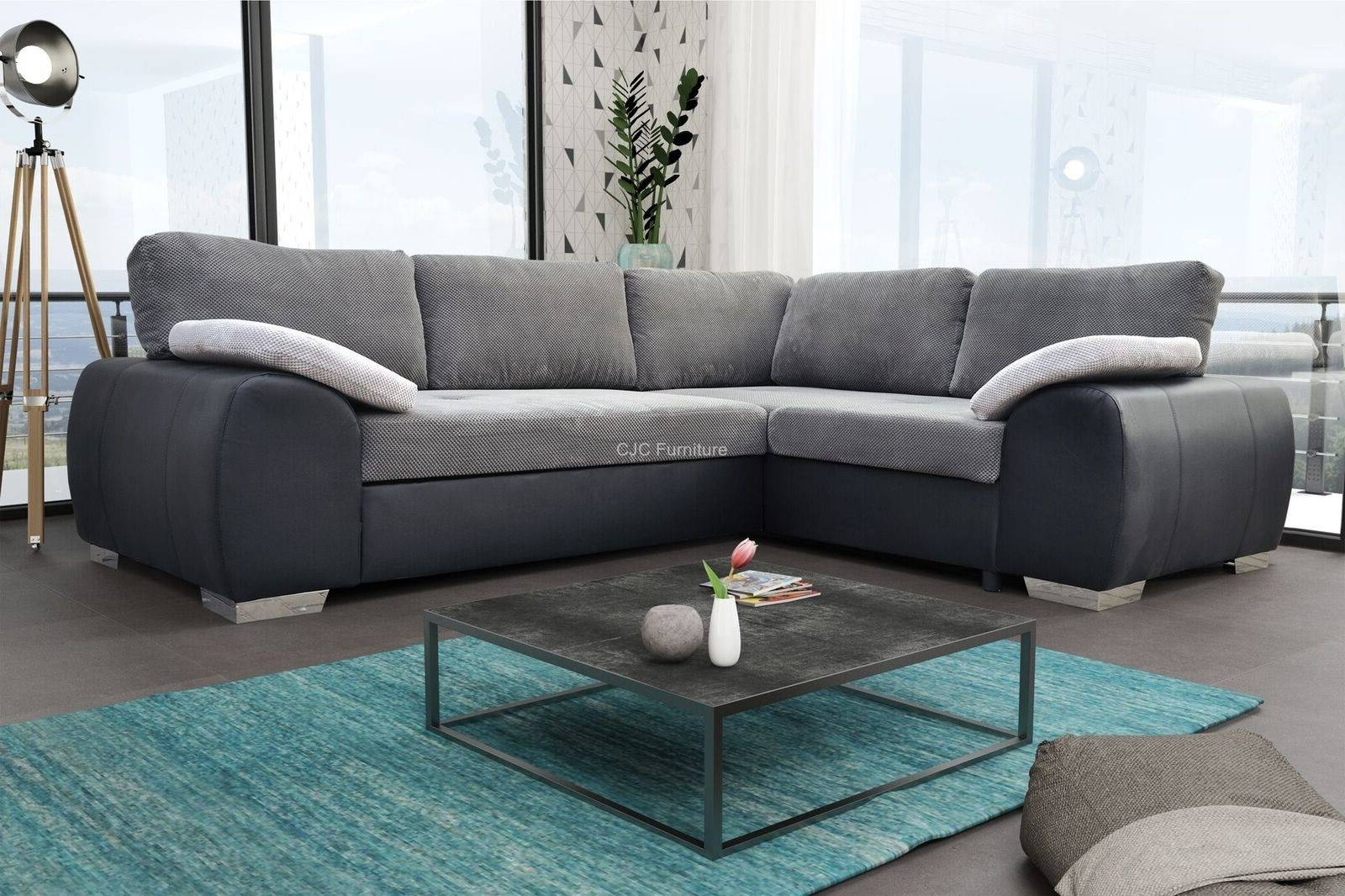 Birmingham Furniture - Cjcfurniture.co.uk Corner Sofa Beds with Fabric Corner Sofa Bed (Image 6 of 30)