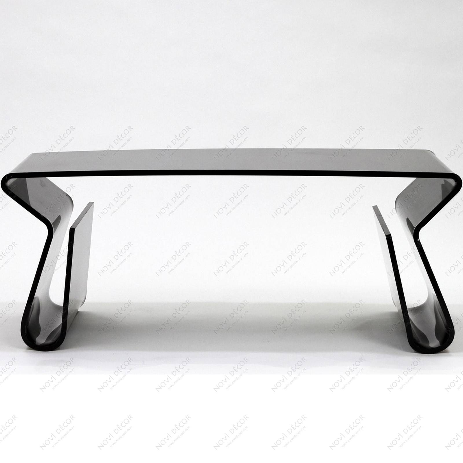 Black Acrylic Coffee Table | Coffee Tables Decoration with Acrylic Coffee Tables With Magazine Rack (Image 10 of 30)