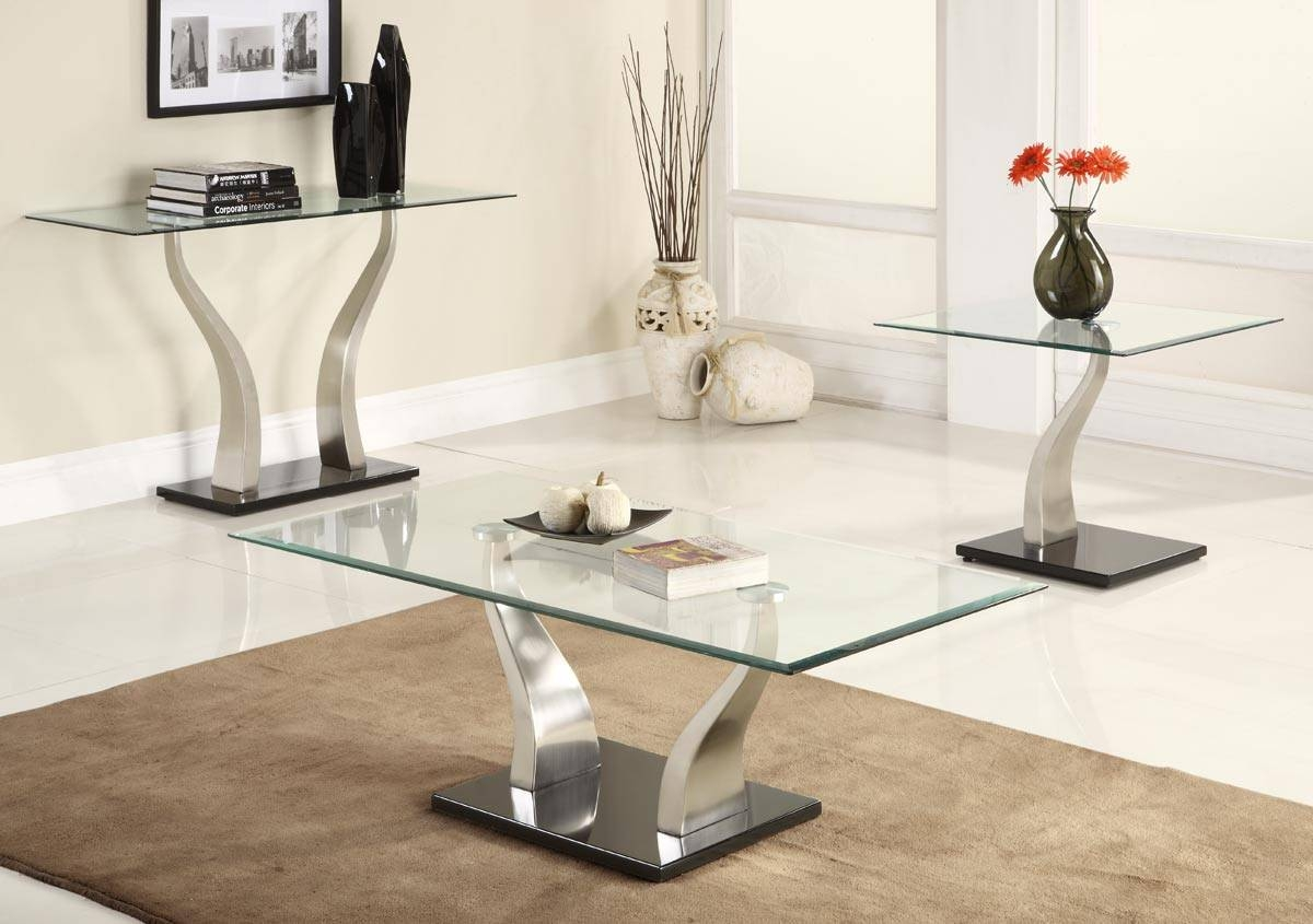 Black And Chrome Coffee Table Set | Coffee Tables Decoration inside Modern Chrome Coffee Tables (Image 2 of 30)