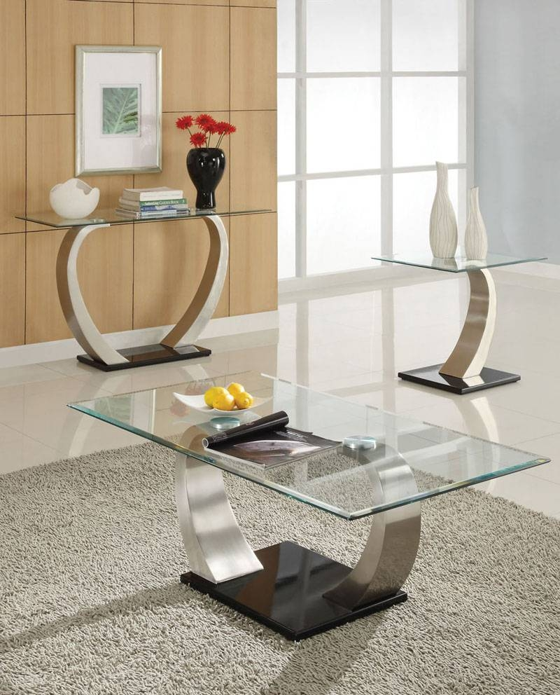 Black And Chrome Coffee Table Set | Coffee Tables Decoration with regard to Modern Chrome Coffee Tables (Image 4 of 30)