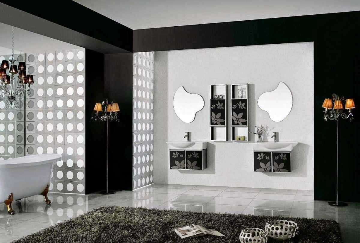 Black And White Bathroom Accessories Cream Stained Wall Mirror for Cream Wall Mirrors (Image 8 of 25)