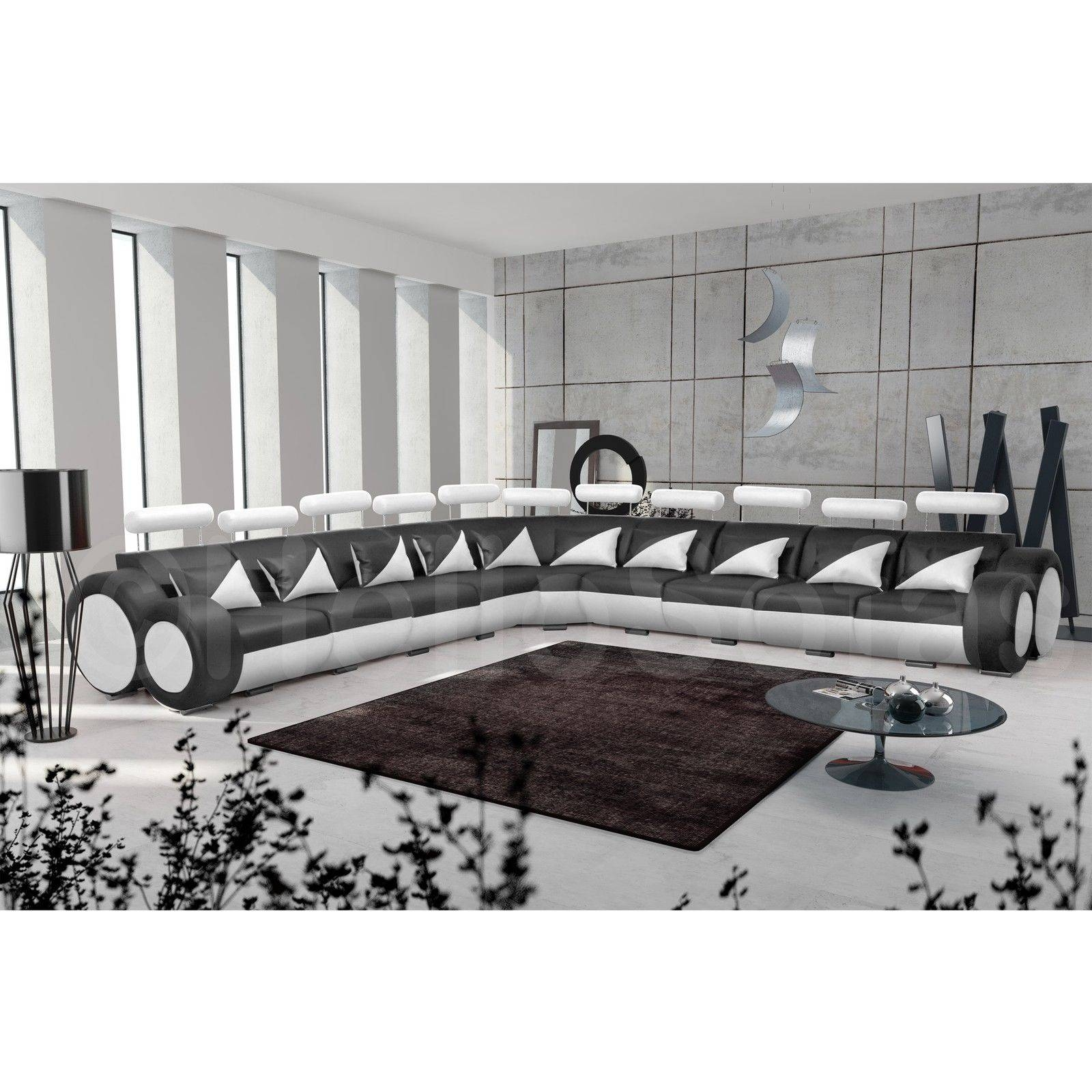 Black And White Leather Sofa With Design Hd Gallery 10358 intended for White and Black Sofas (Image 9 of 30)