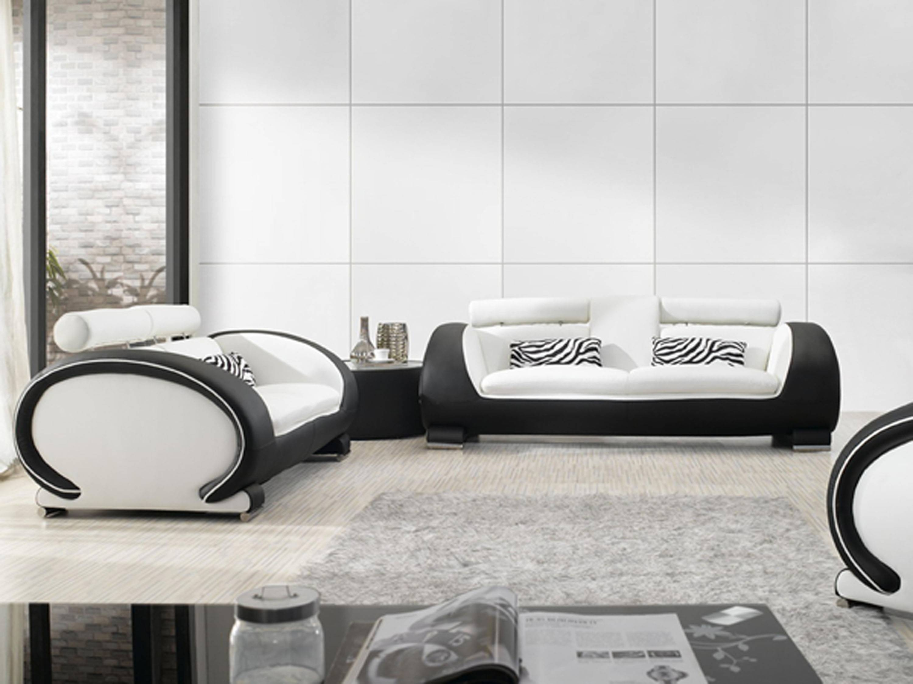 Black And White Sofa - S3Net - Sectional Sofas Sale : S3Net with regard to Black And White Sofas (Image 7 of 30)