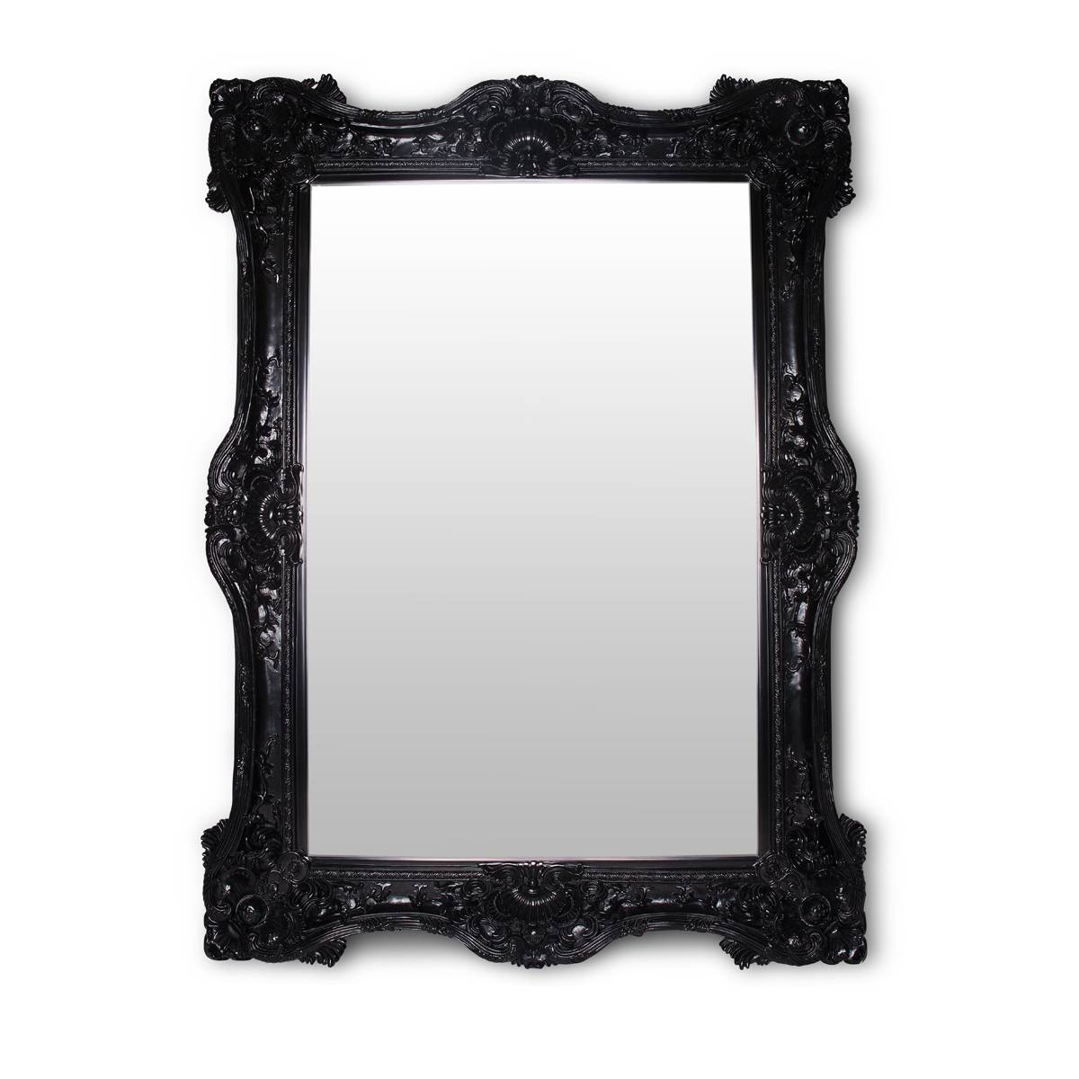 Black Baroque Mirror – Glam Party Rentals for Black Baroque Mirrors (Image 11 of 25)