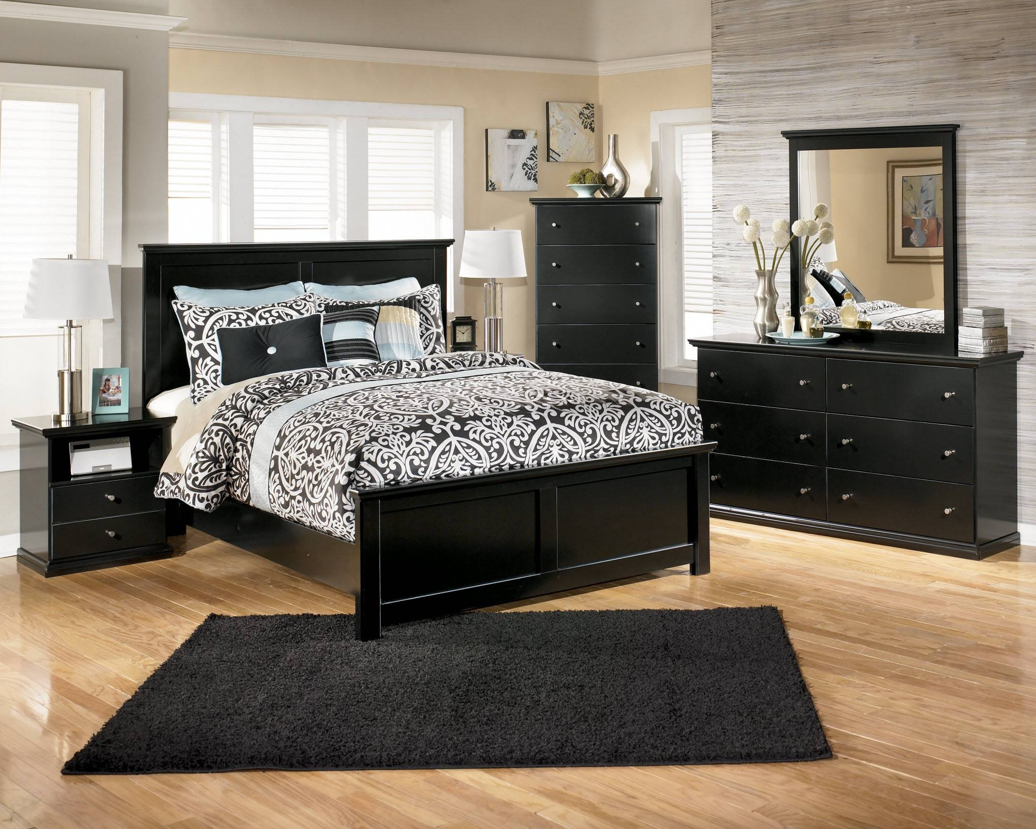 Black Bedroom Furniture - Conveying Formality And Elegance (Photos intended for Dark Wood Wardrobe Sets (Image 22 of 30)