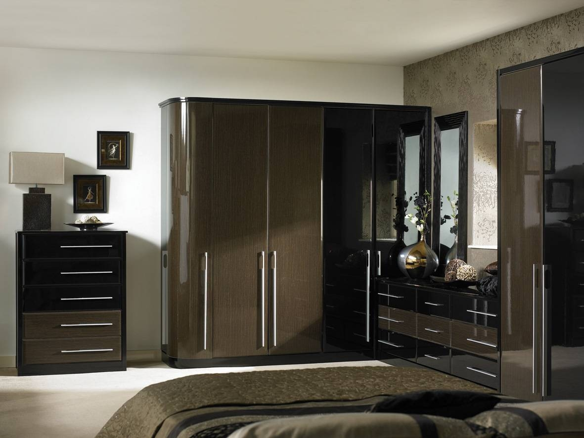 Black Bedroom Sets King White High Gloss Furniture Ikea Walls within Gloss Black Wardrobes (Image 1 of 15)