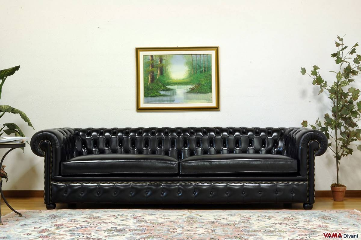 Black Chesterfield Sofa With Design Picture 8194 | Kengire intended for Chesterfield Black Sofas (Image 2 of 30)