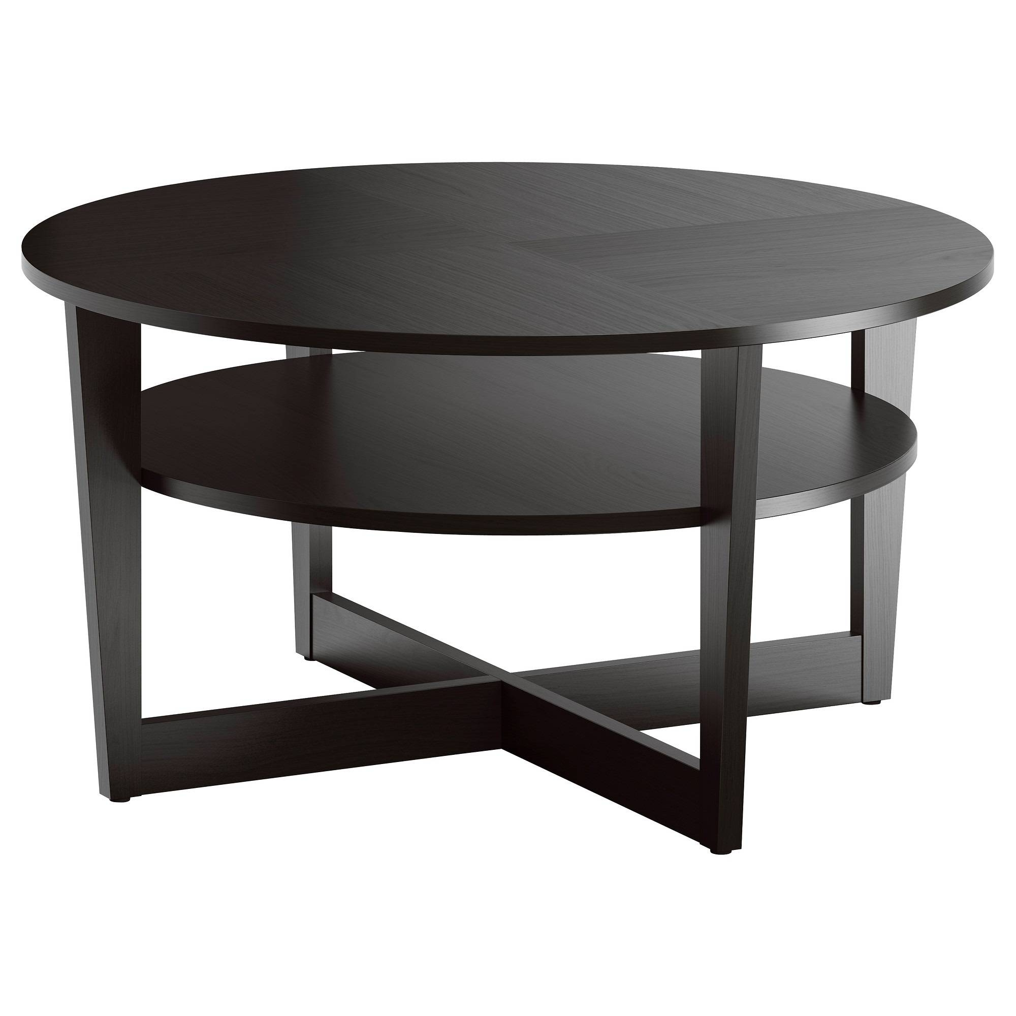 Black Circle Coffee Table. Round Coffee Table. Table Circle Coffee with regard to Circle Coffee Tables (Image 3 of 30)