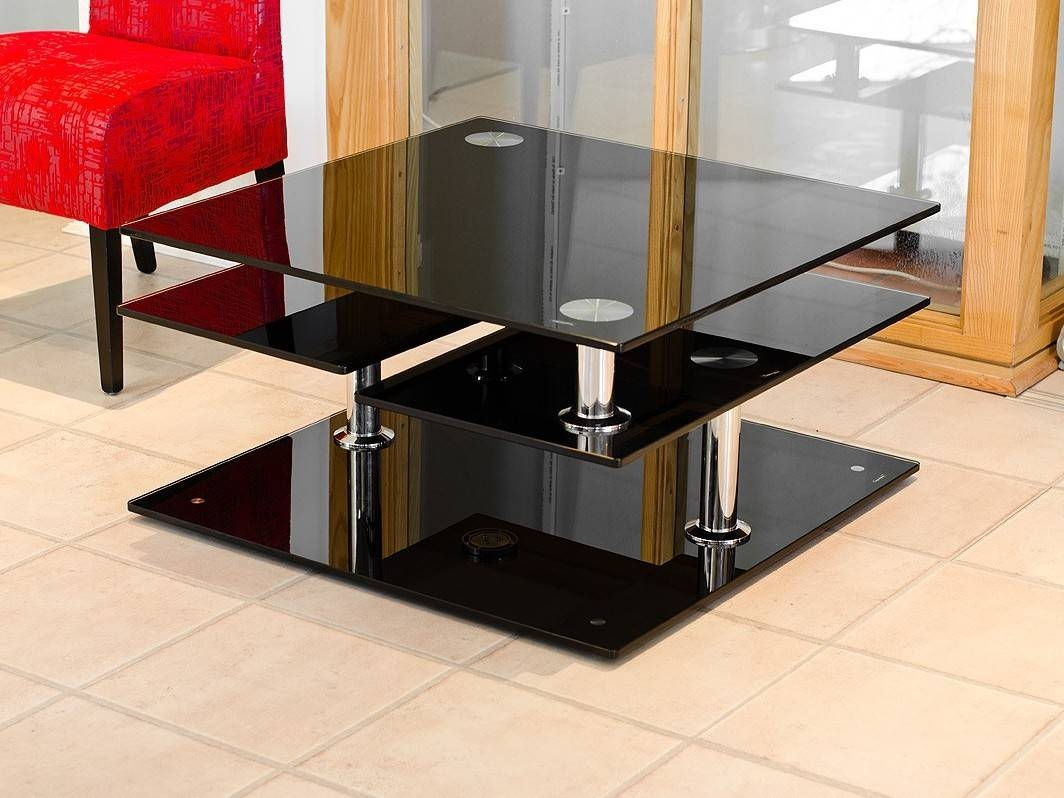 Black Coffee Table Design Images Photos Pictures with Black Glass Coffee Tables (Image 5 of 30)