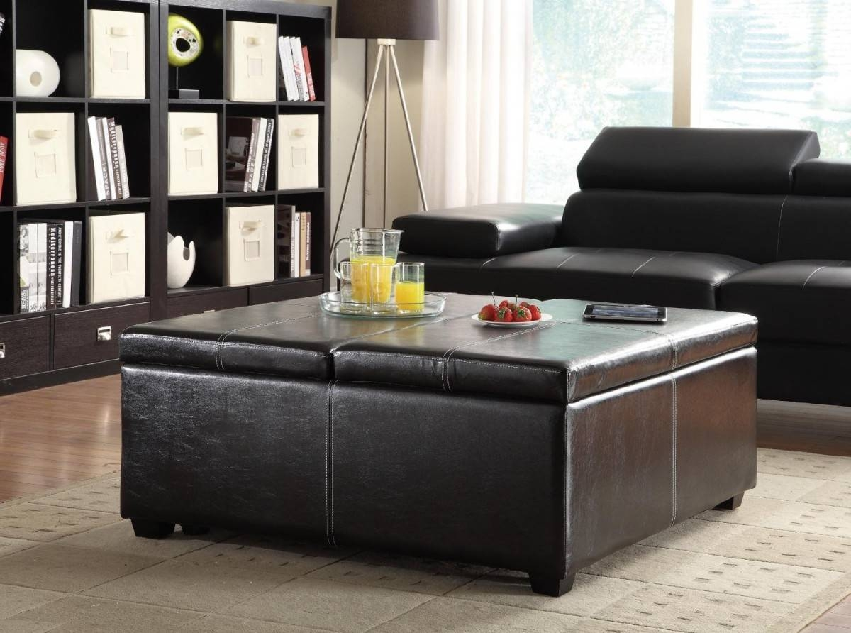 Black Coffee Table for Big Coffee Tables (Image 10 of 30)