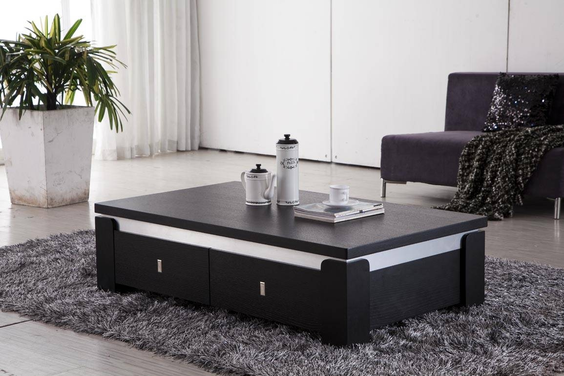 Black Coffee Table With Modern Styles Modern Black Coffee Table in Black Coffee Tables (Image 7 of 30)