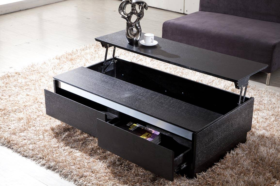 Black Coffee Table With Storage - Chic And Modern Black Coffee within Black Coffee Tables With Storage (Image 1 of 30)