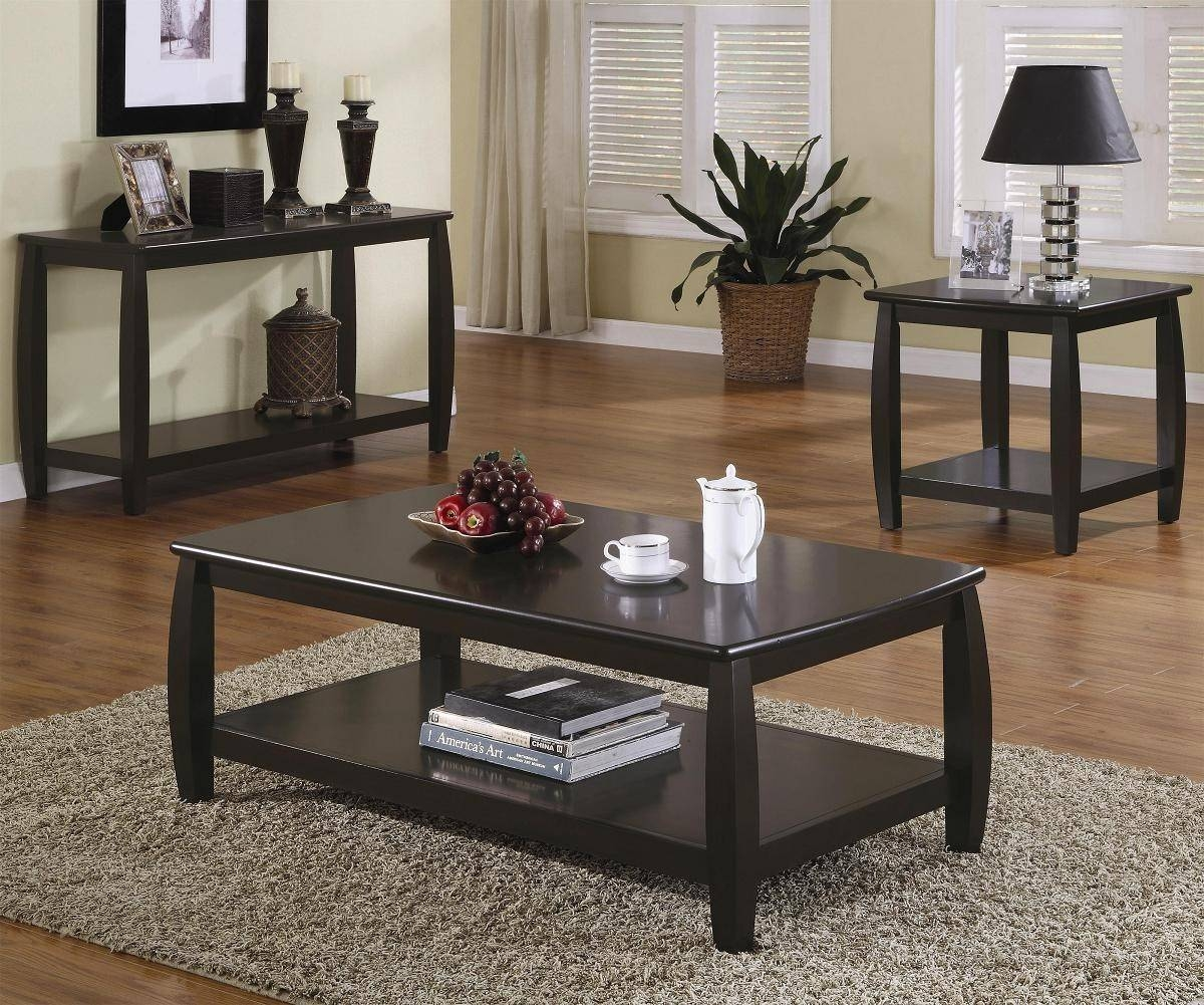 Black End Tables And Coffee Tables | Coffee Tables Decoration throughout Coffee Table With Matching End Tables (Image 5 of 30)