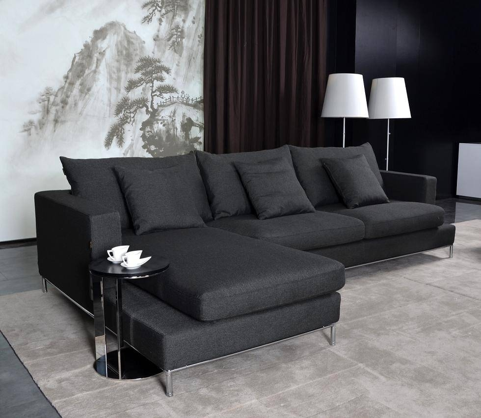 Black Fabric Sectional Sofa - Sofa Reviews & Ratings for Fabric Sectional Sofa (Image 3 of 30)