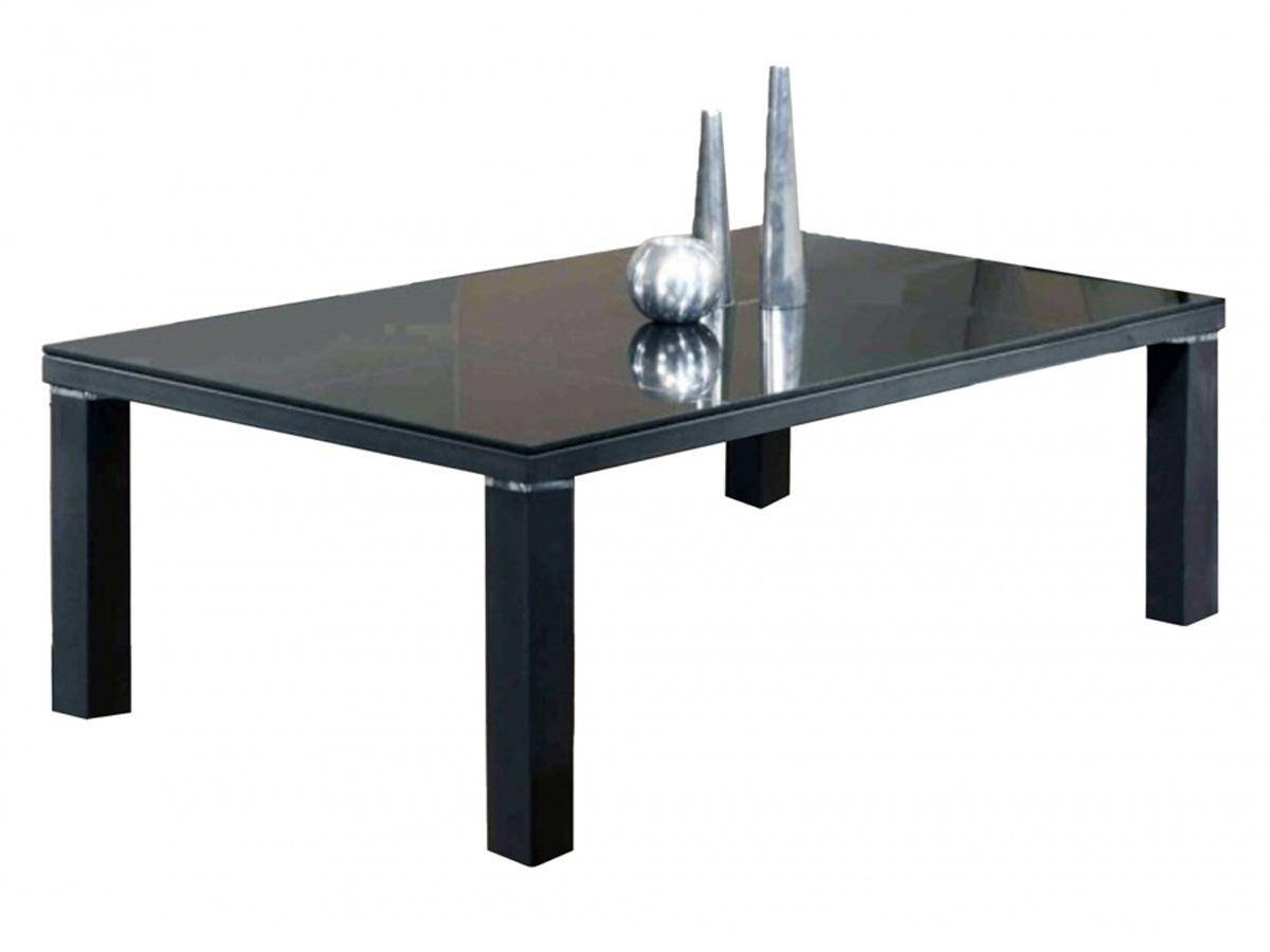 Black Glass Coffee Table Contemporary Modern Retro Pertaining To Retro Glass Coffee Tables (View 20 of 30)