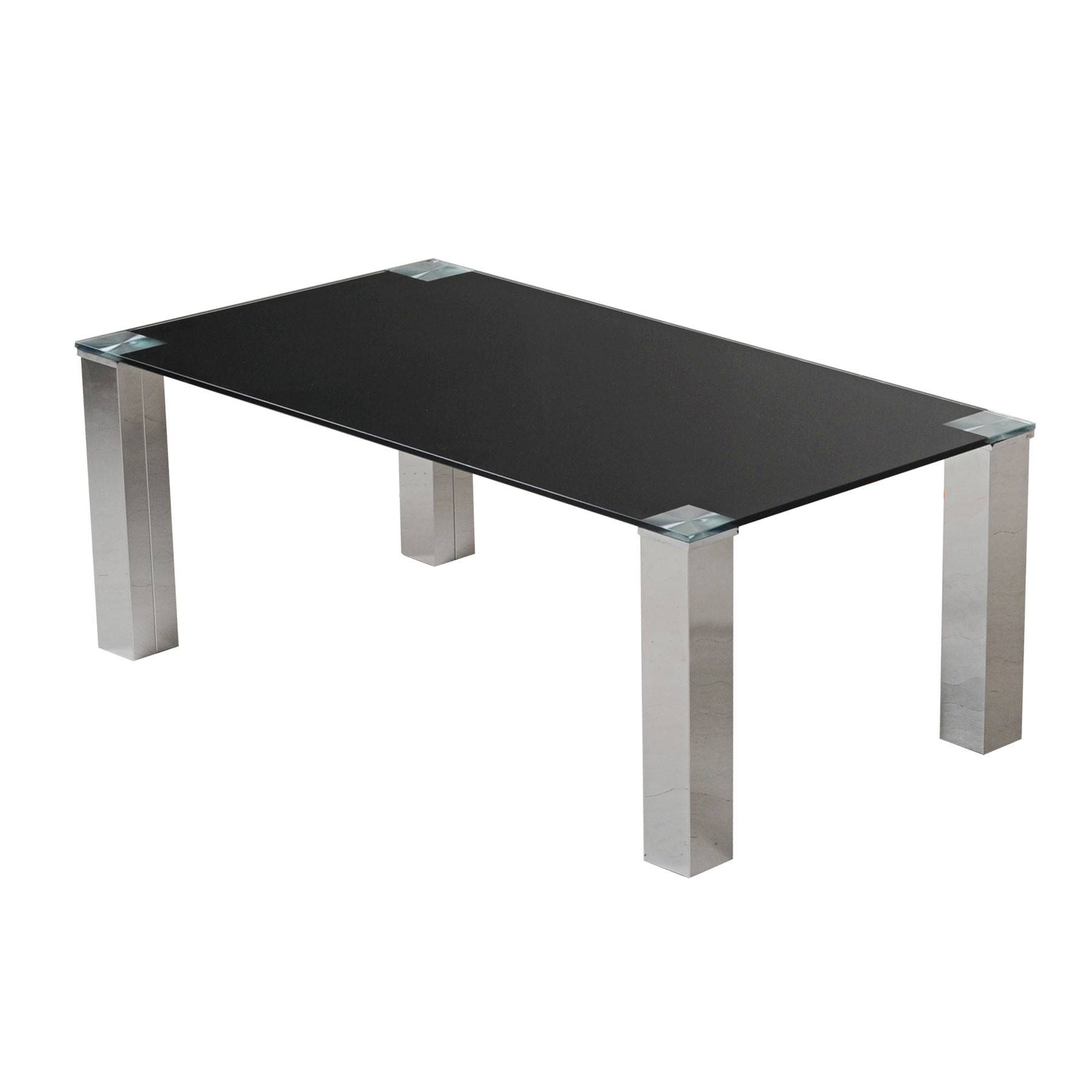 Square black glass coffee table - Black Glass Coffee Table Regarding Dark Glass Coffee Tables Image 2 Of 30