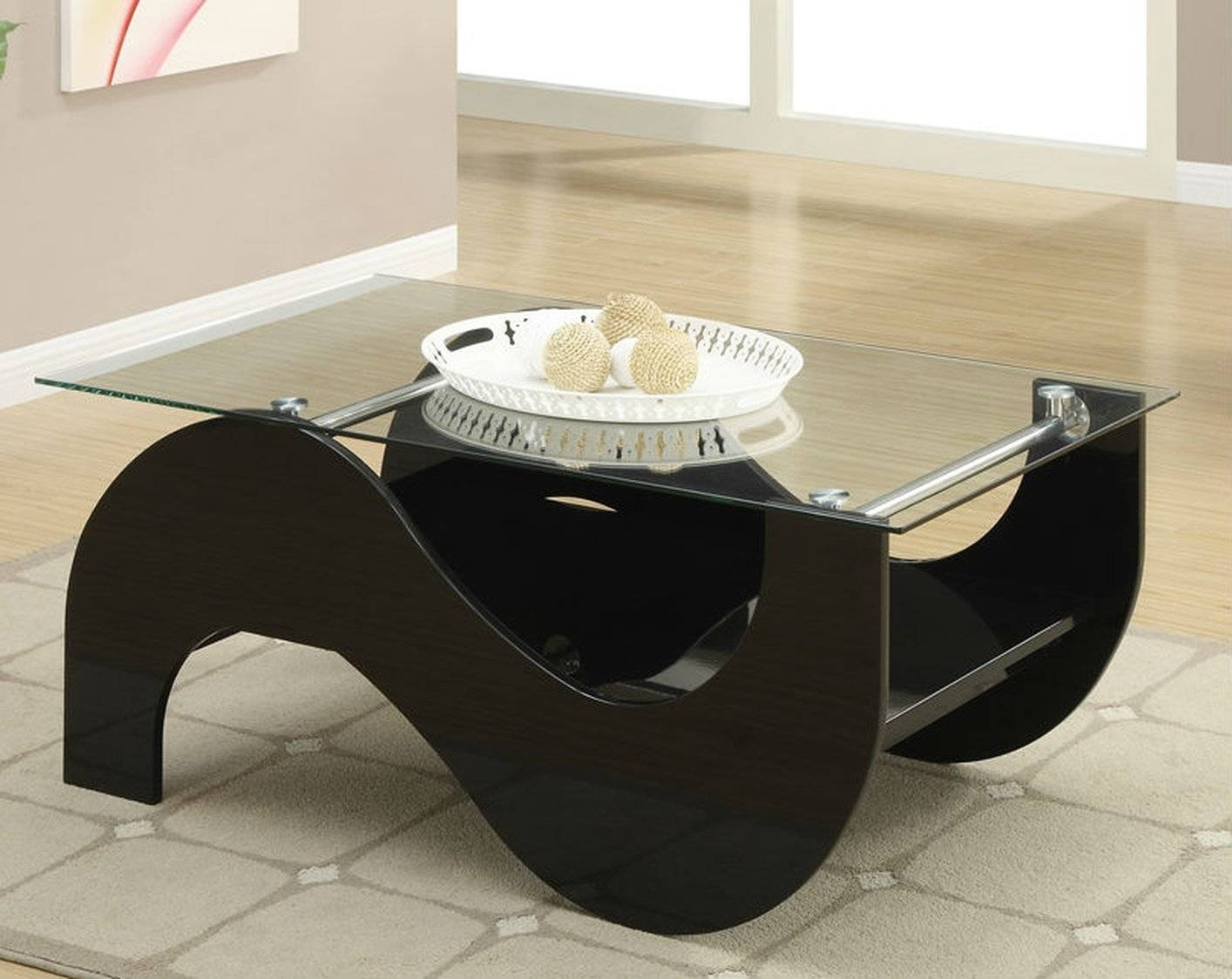 Black Glass Coffee Table - Steal-A-Sofa Furniture Outlet Los with regard to Black Glass Coffee Tables (Image 6 of 30)