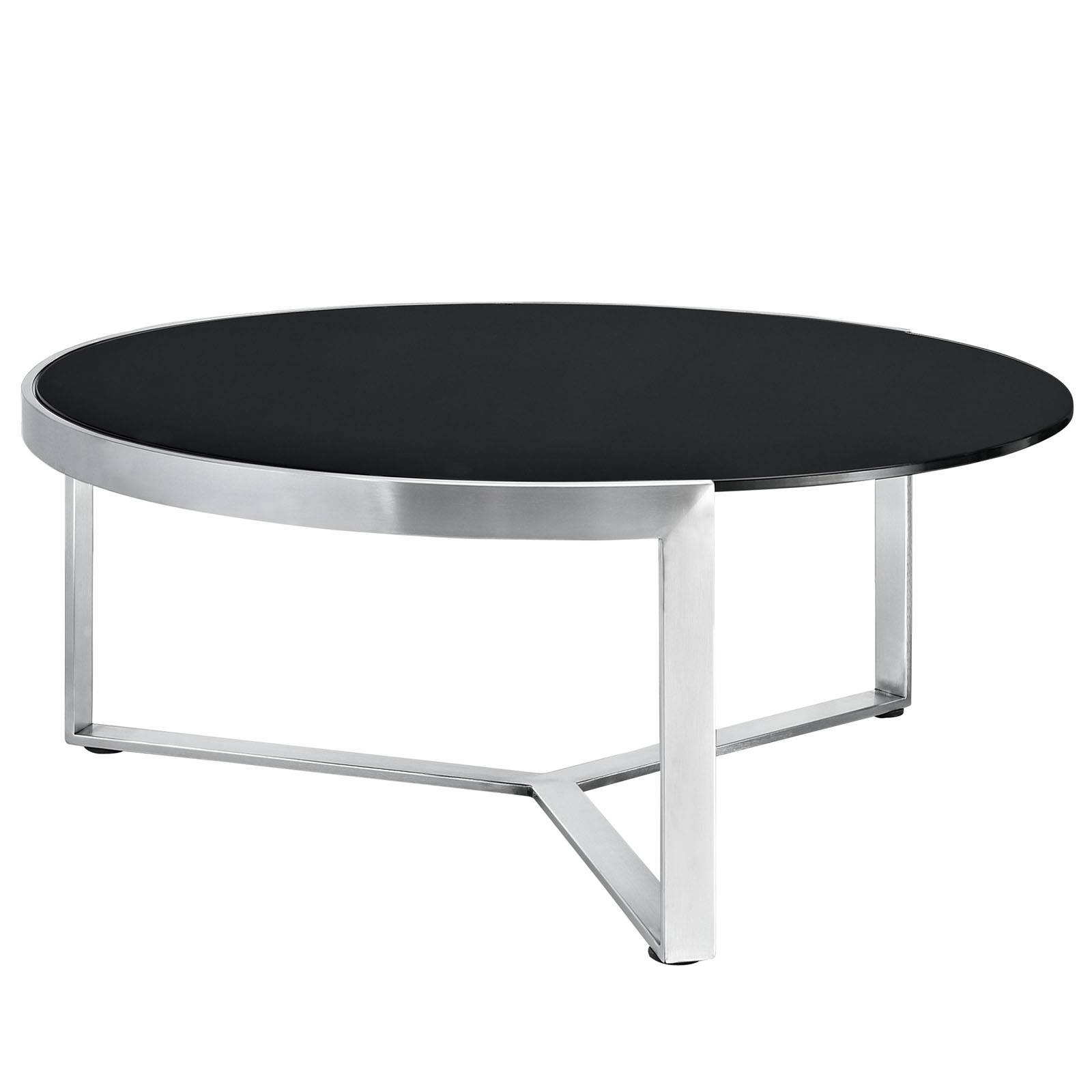 Black Glass Coffee Table With Black Legs | Coffee Tables Decoration pertaining to Oval Black Glass Coffee Tables (Image 5 of 30)