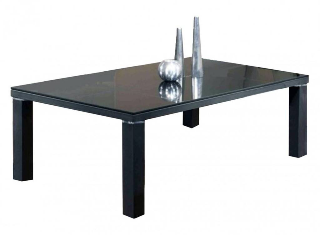 Black Glass Coffee Table With Black Legs pertaining to Black Glass Coffee Tables (Image 8 of 30)