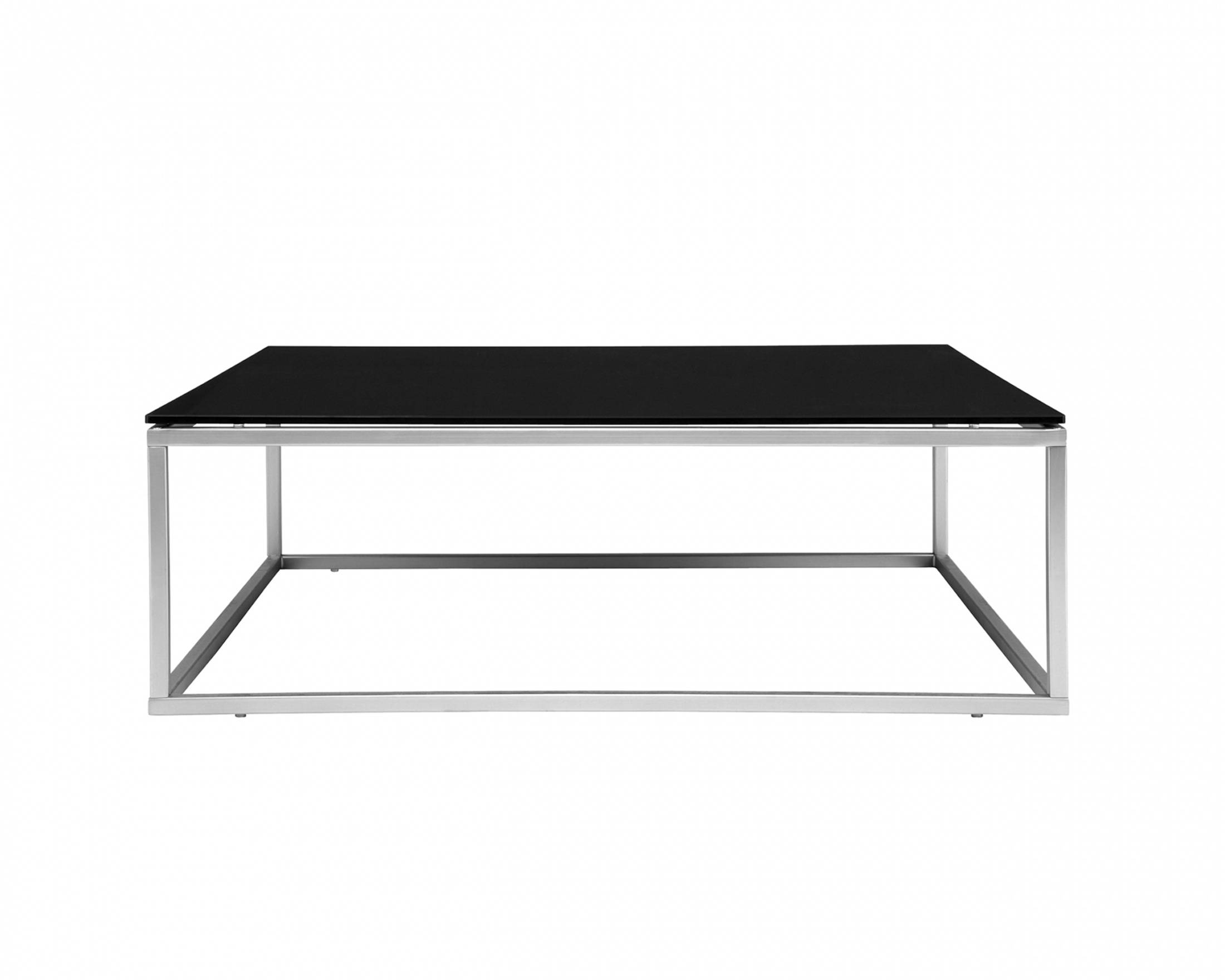 Black Glass Coffee Table With Chrome Legs | Coffee Tables Decoration Throughout Chrome Glass Coffee Tables (View 3 of 30)